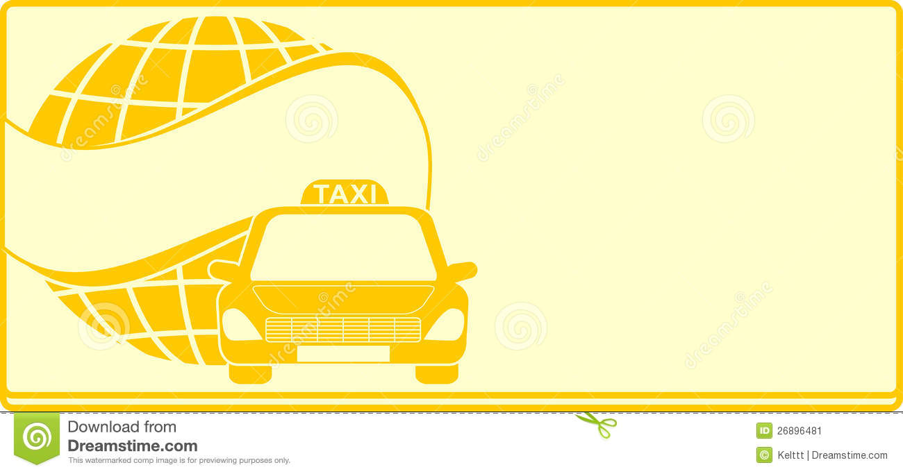 Fond pour le taxi de carte de visite illustration de for Fond pour les photos