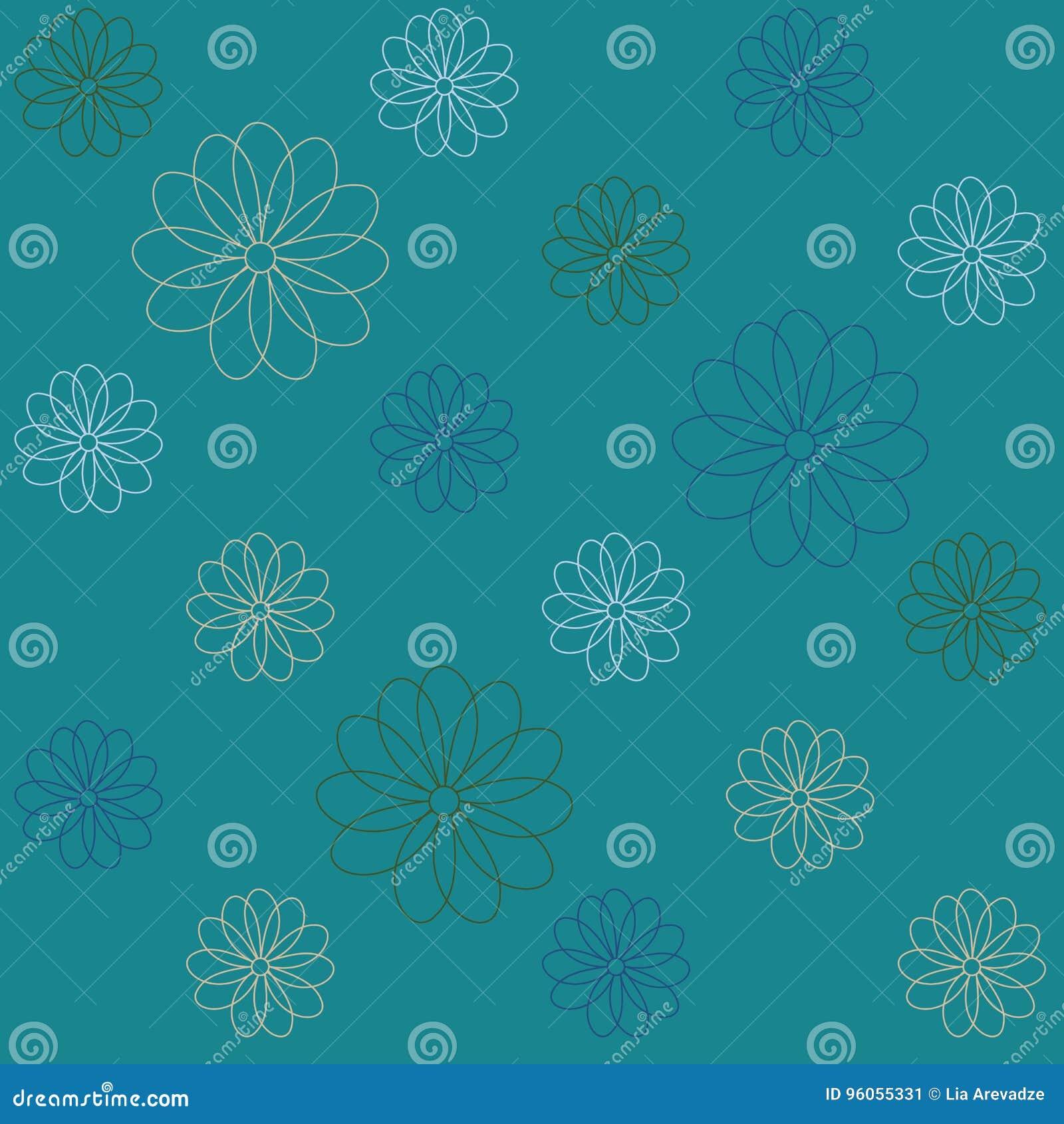 Fond qu on peut répéter floral pour des papiers peints, des bannières et des couvertures