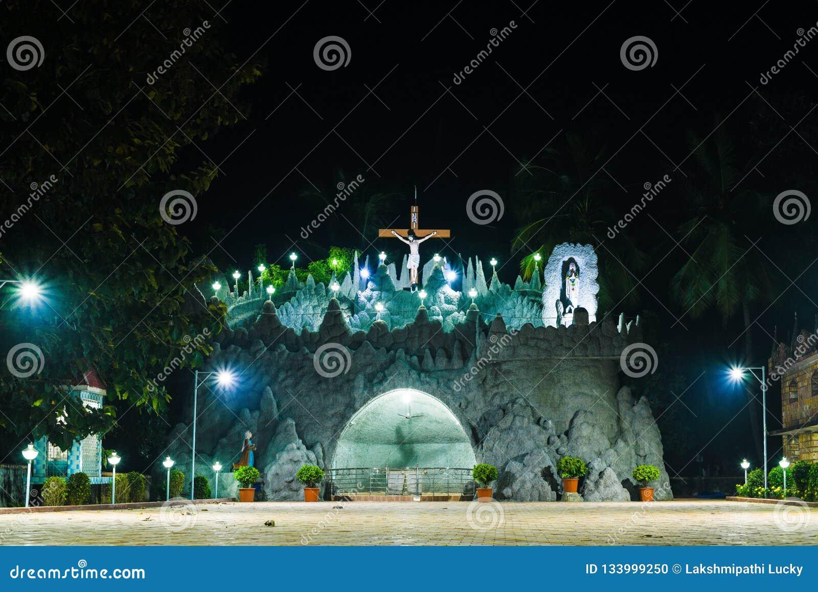 Fond religieux de temple de l Inde Jésus d église de Noël