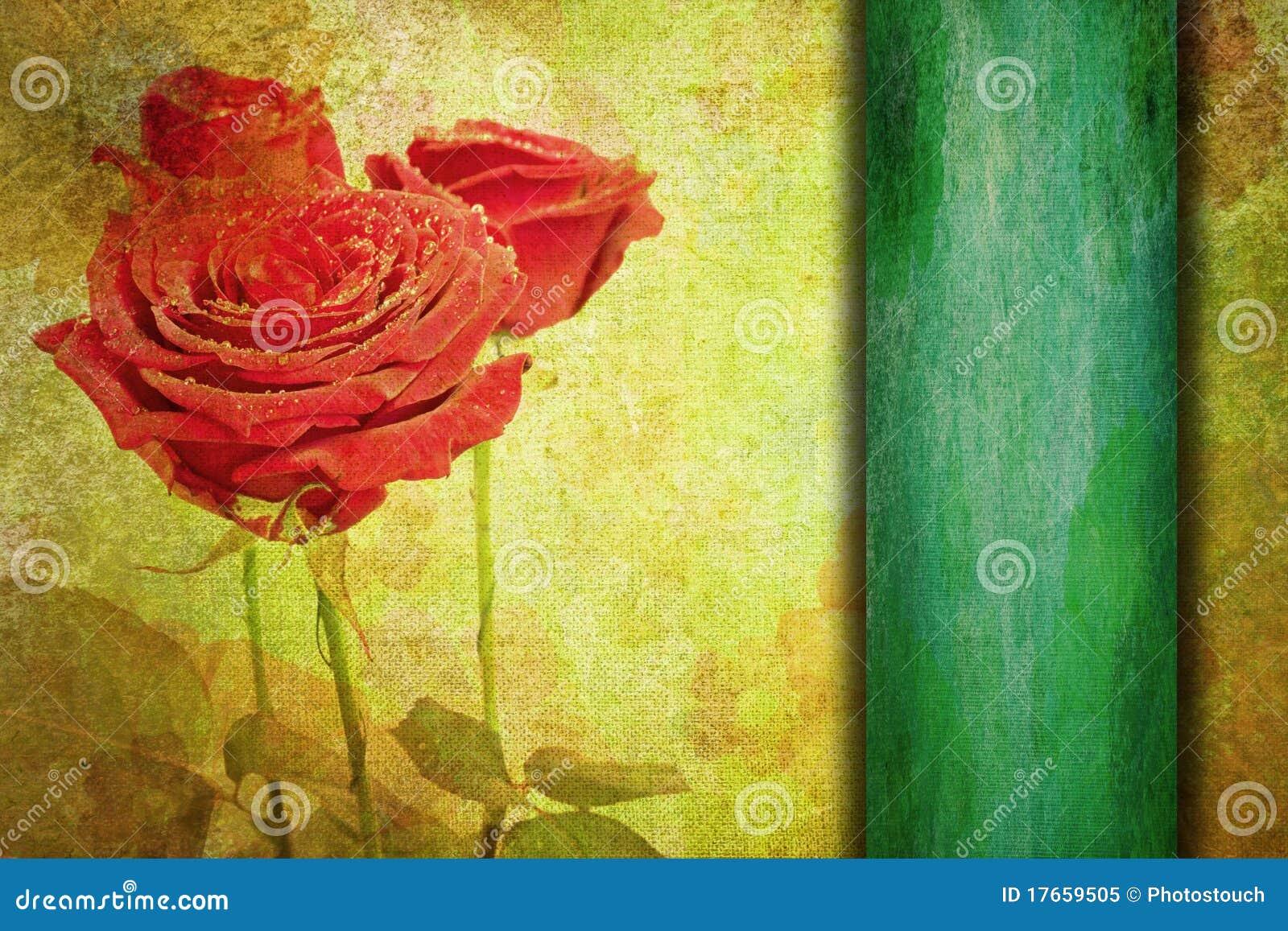 Fond romantique abstrait de cru de Valentine