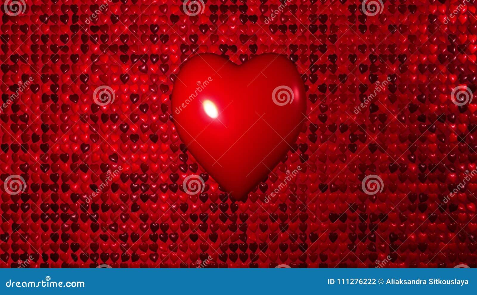 Fond romantique pilotant le coeur d amour de mur de la chaleur rouge Pour le jour de valentines de St, jour du ` s de mère, salut