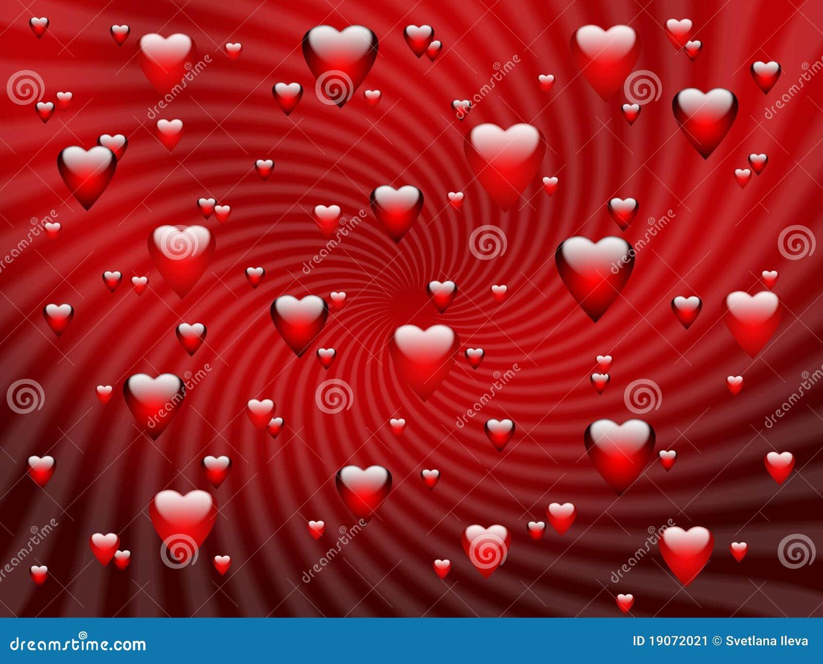 Fond romantique rouge abstrait avec des coeurs illustration stock illustration du jour coeur - Images avec des coeurs ...