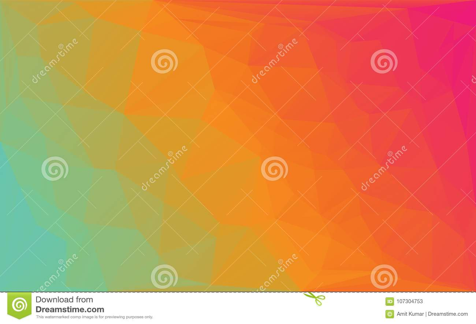 Fond rond jaune-orange de vecteur abstrait de mosaïque de polygone