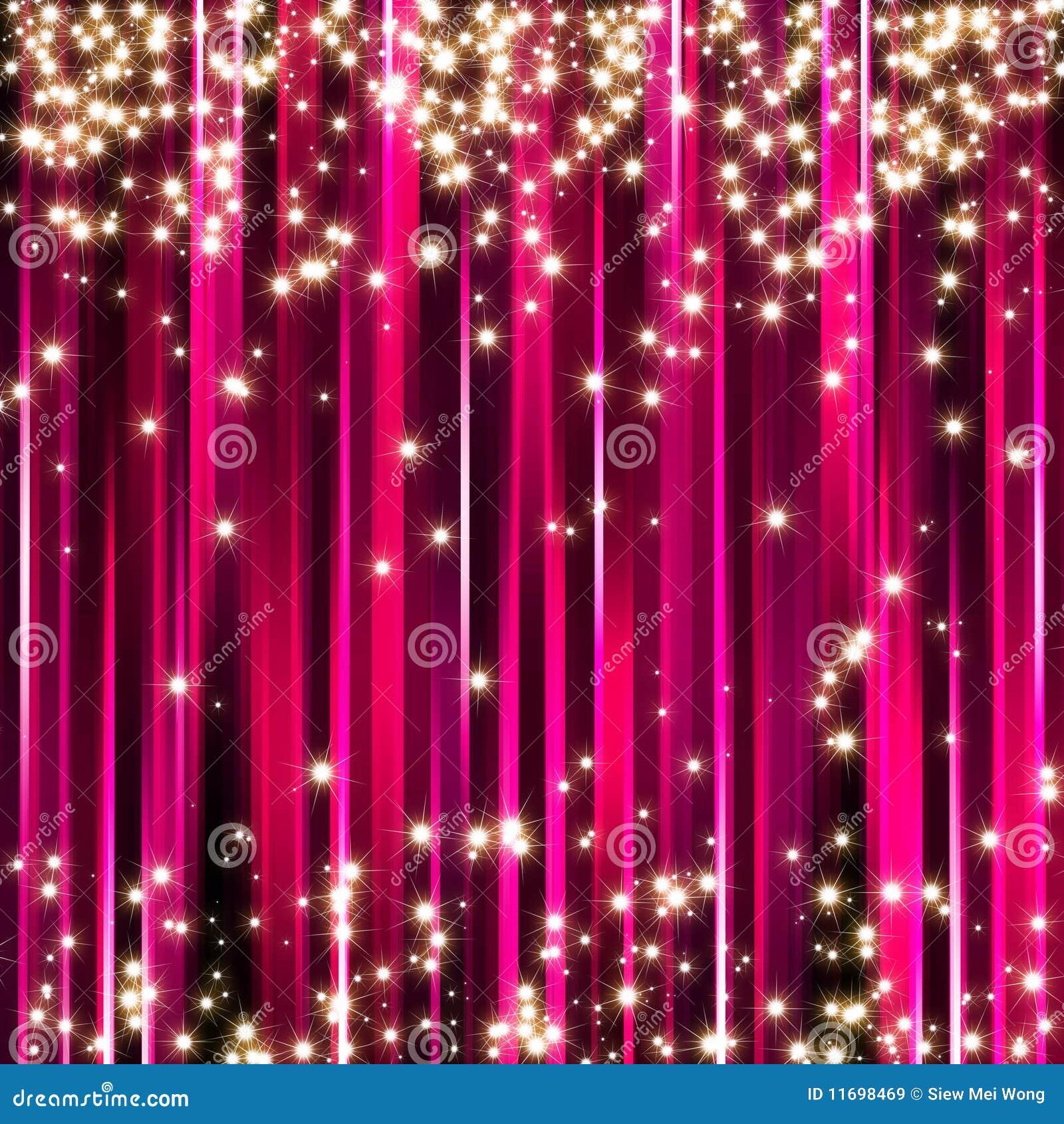 Fond rose d étoiles d étincelle