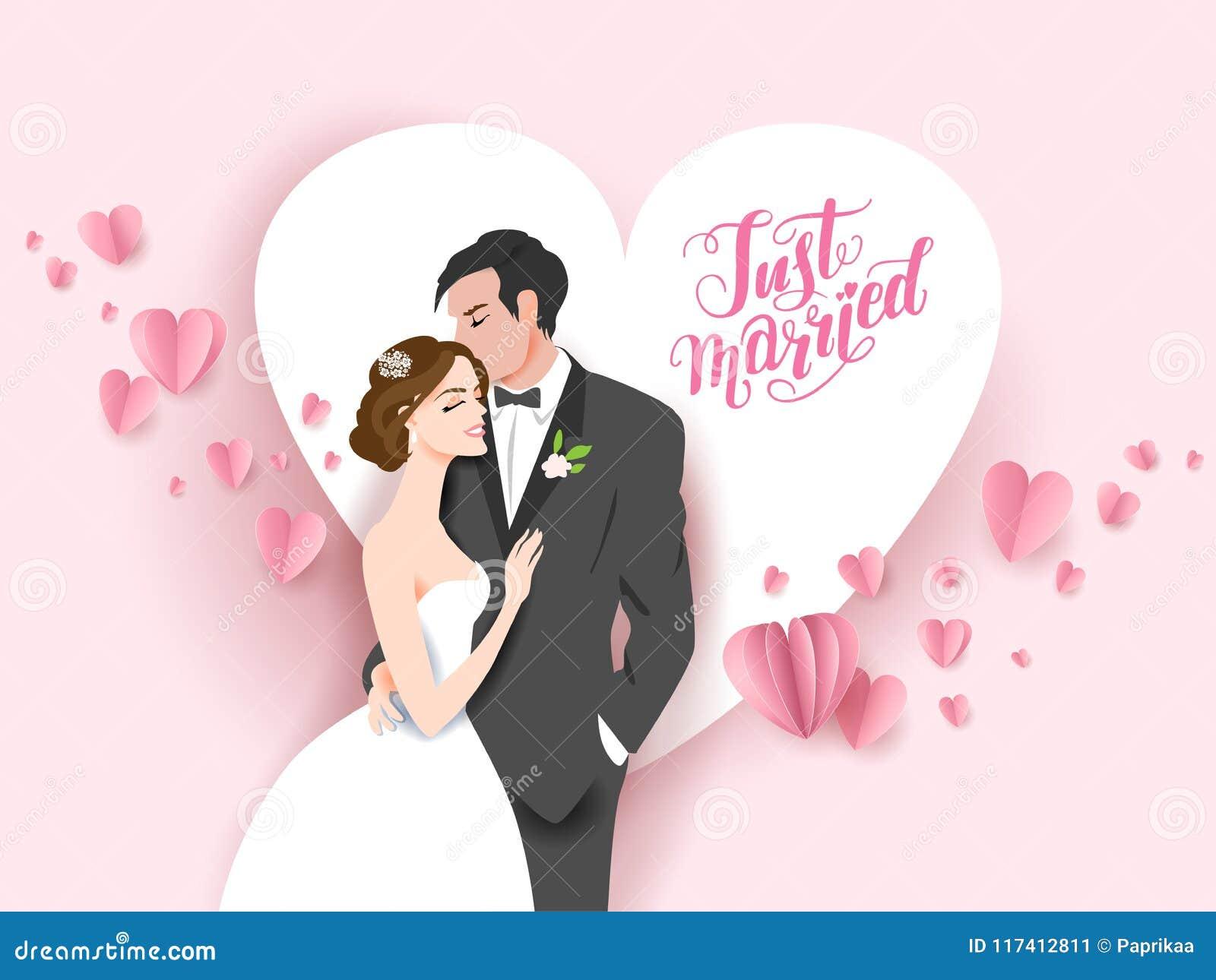 Fond rose de mariage