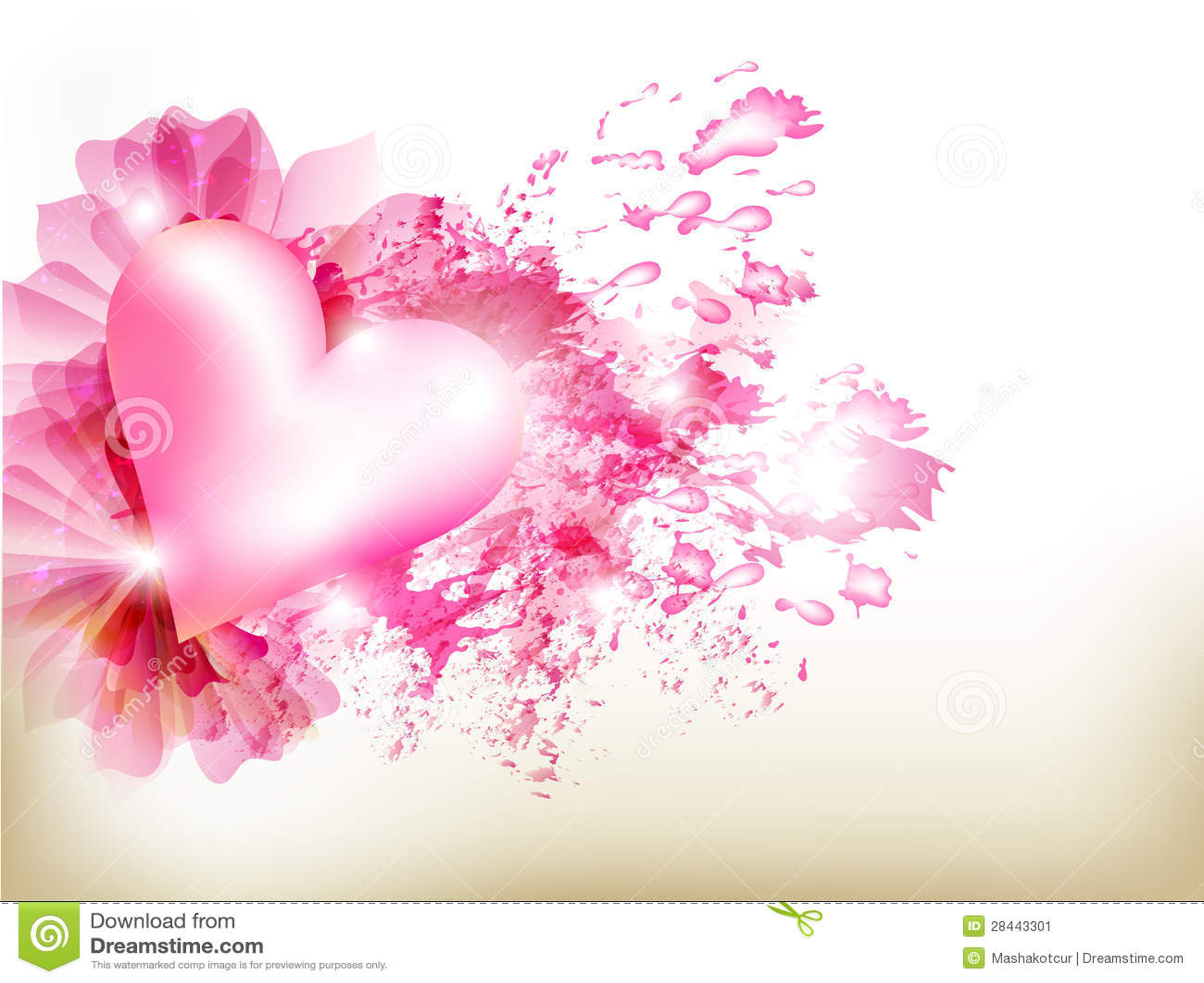 Fond rose grunge abstrait avec le coeur