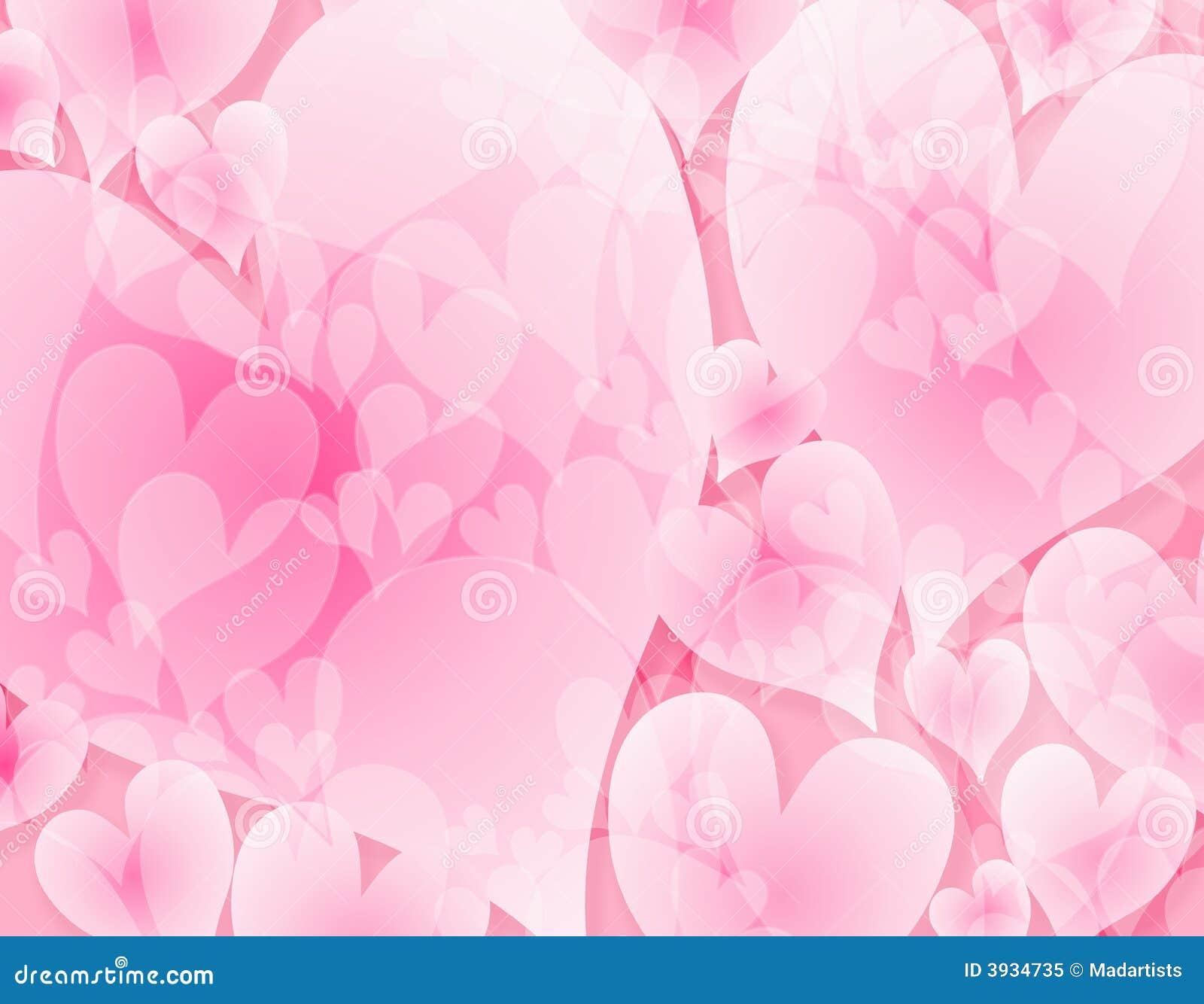 Fond rose opaque clair de coeurs