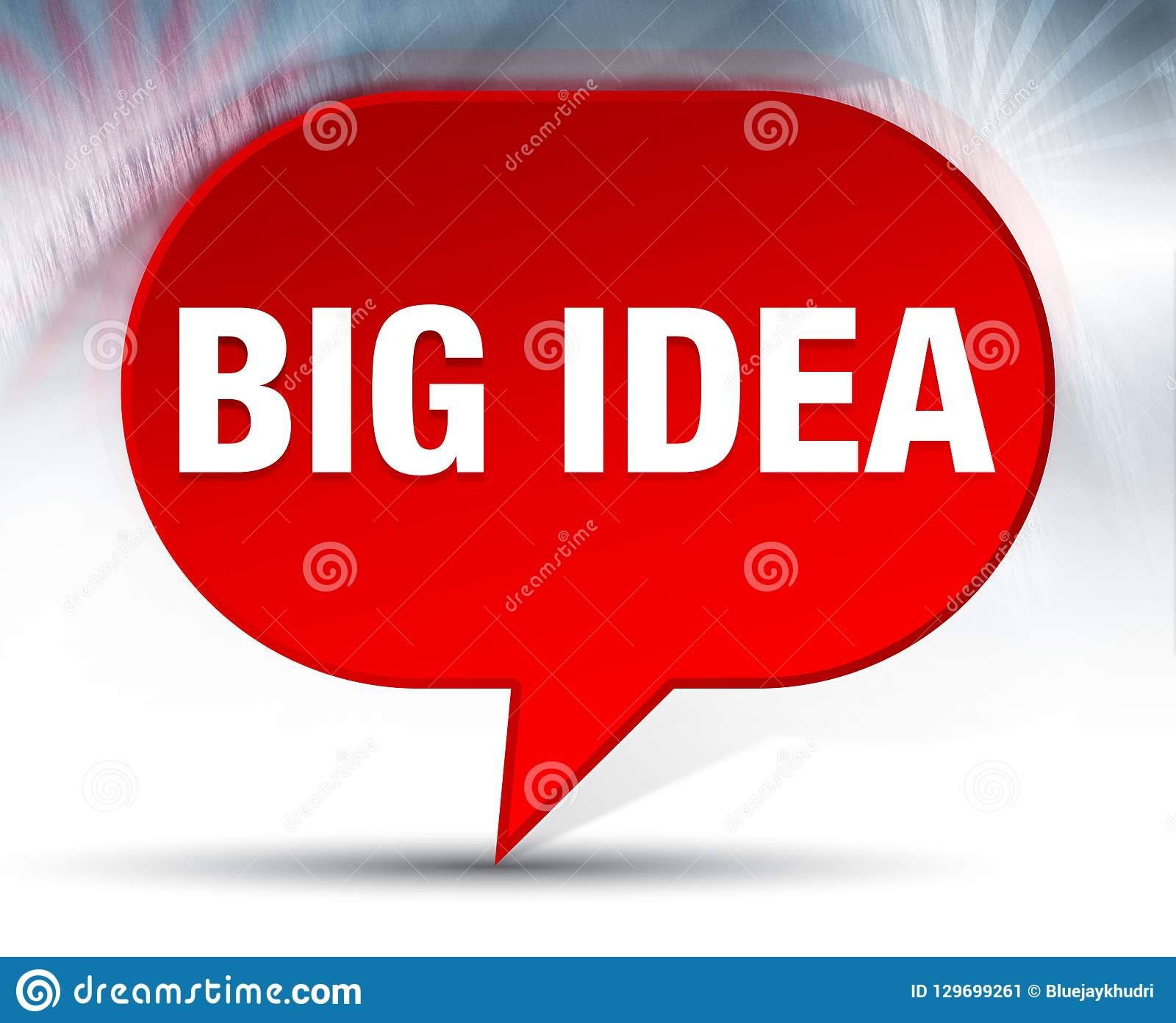 Fond rouge de bulle de grande idée