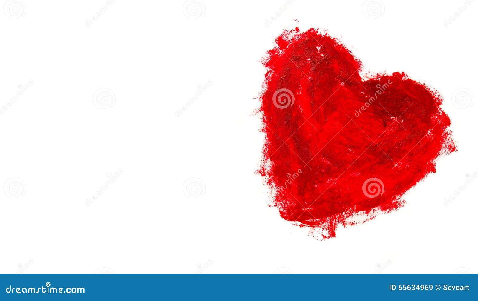 Fond rouge de forme de coeur