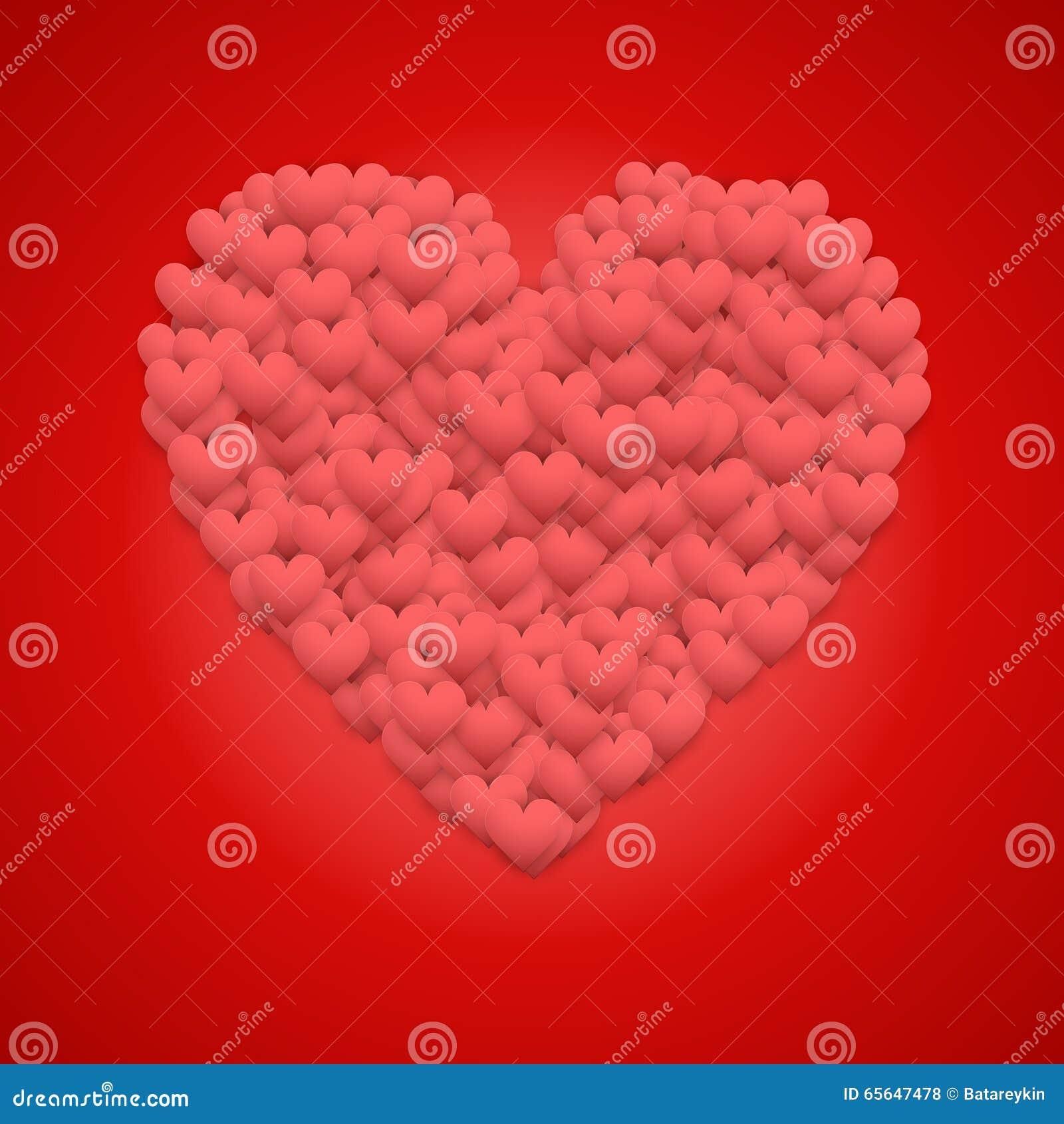 Fond rouge de jour de Valentines