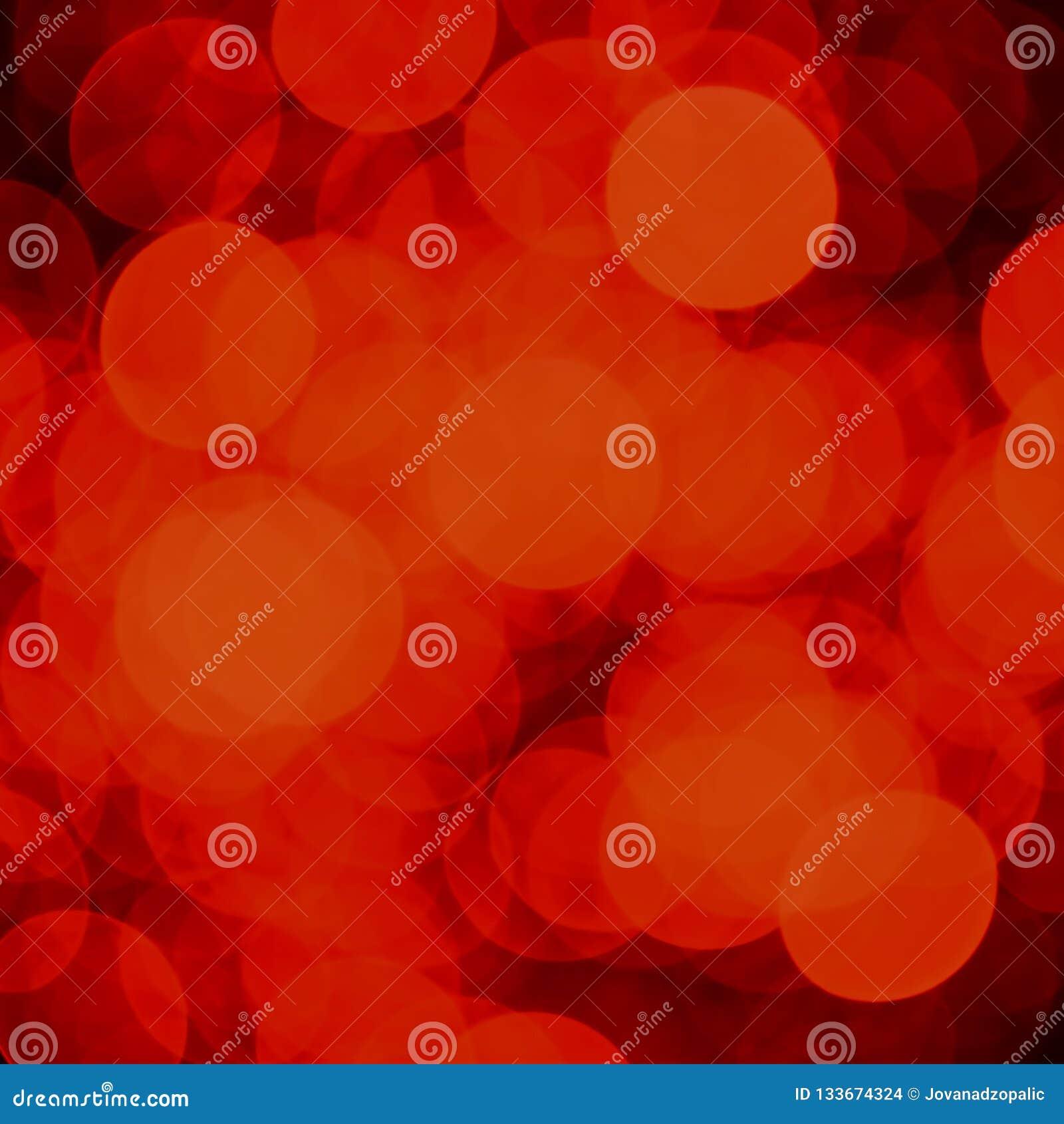 Fond rouge de lumières de bokeh de Noël et de nouvelle année