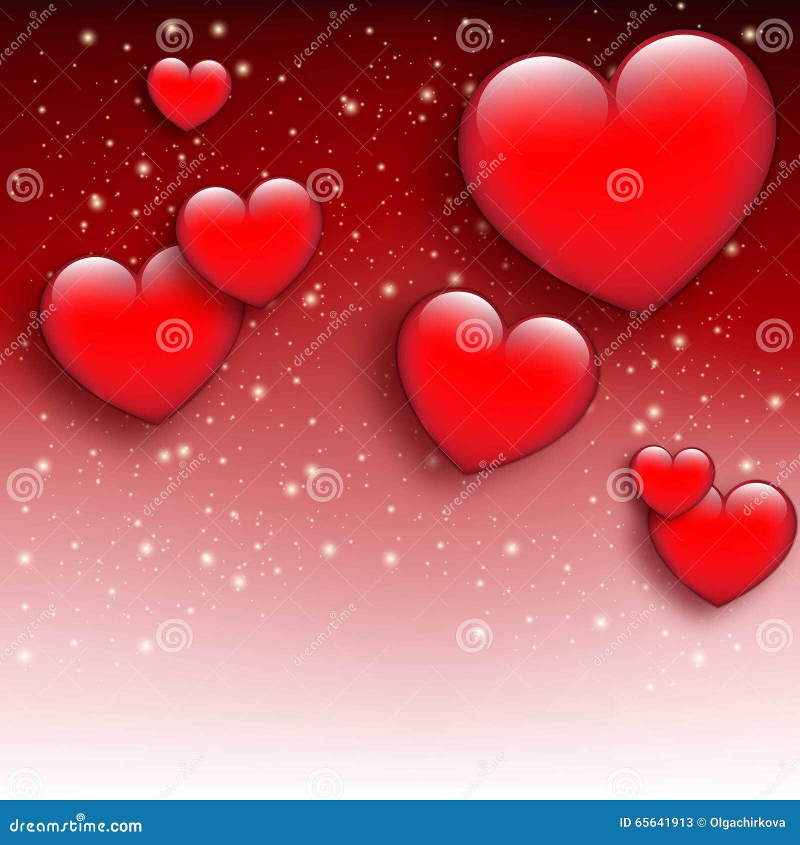 Fond rouge du jour de valentine