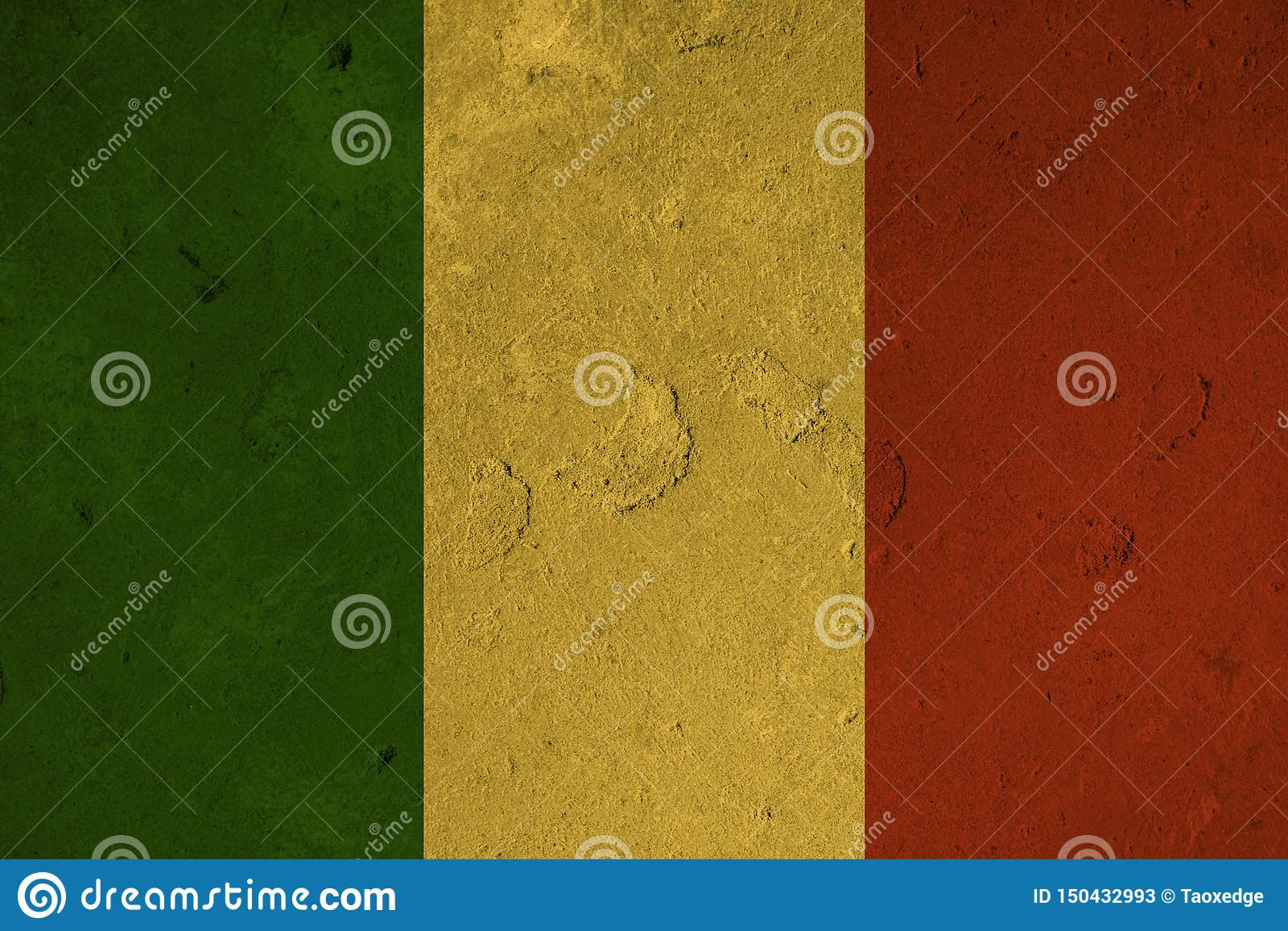 Fond rouge jaune vert de reggae