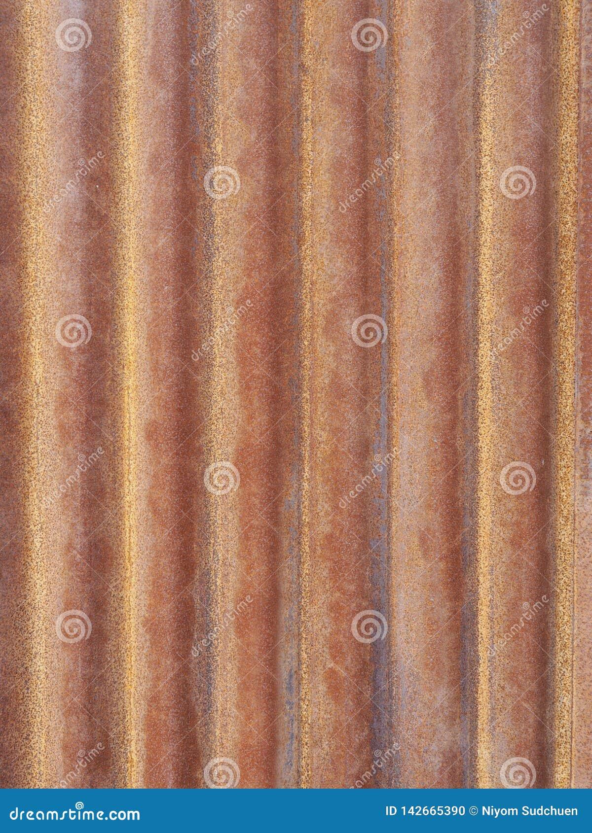 Fond rouillé de texture de surface de plat de zinc