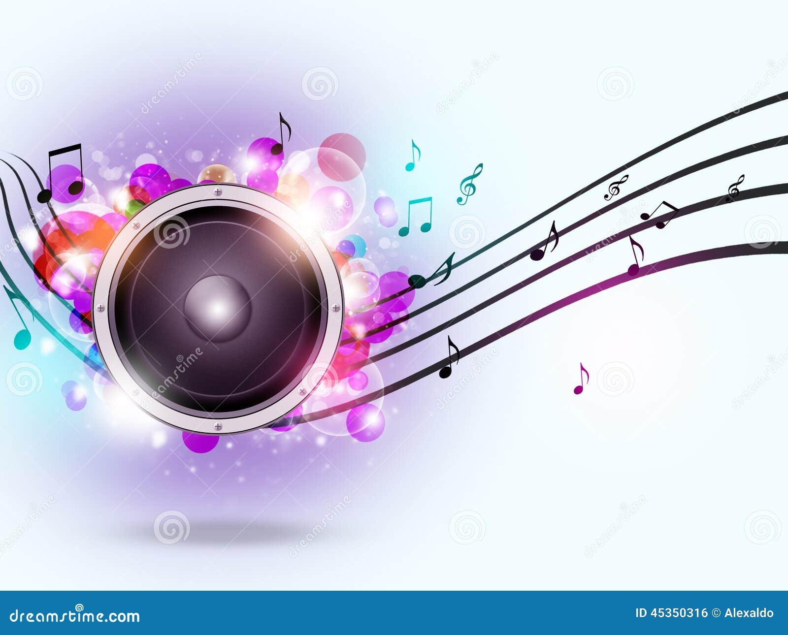 Fond sain de musique de haut-parleur