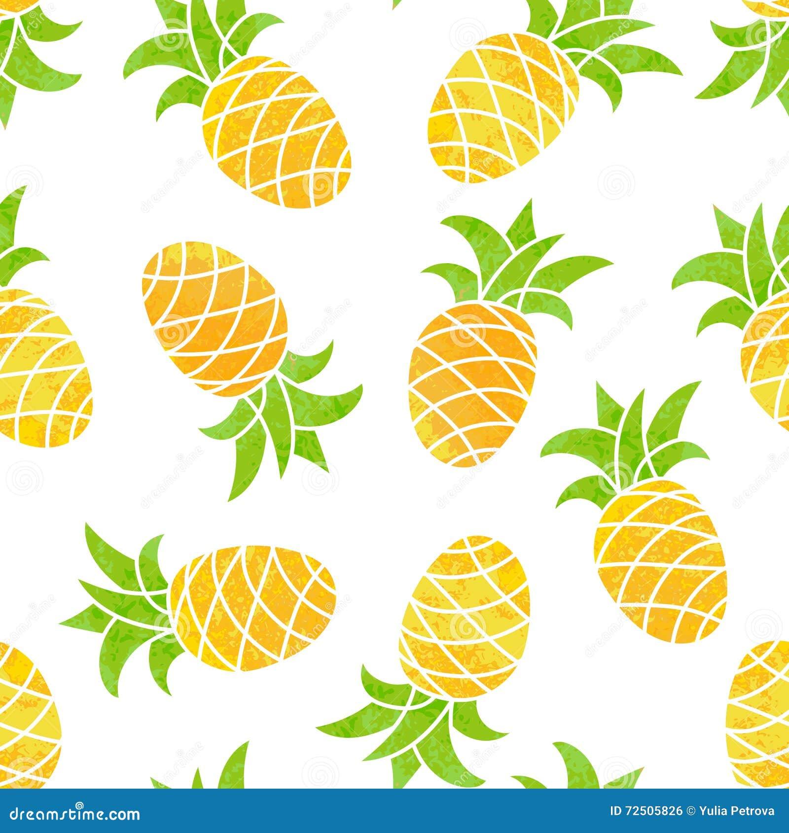 Fond sans couture avec l 39 ananas illustration de vecteur for Fond ecran ananas