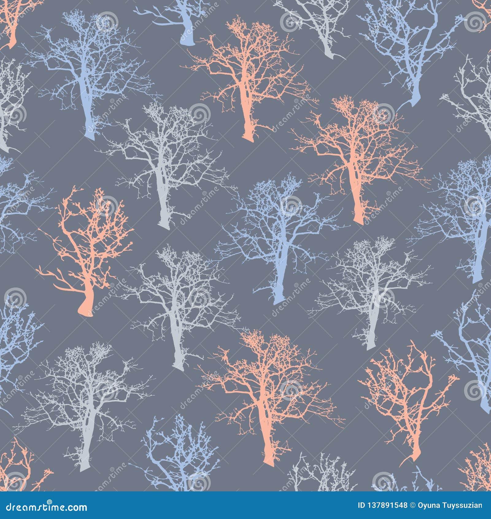 Fond sans couture d arbre forestier d illustration