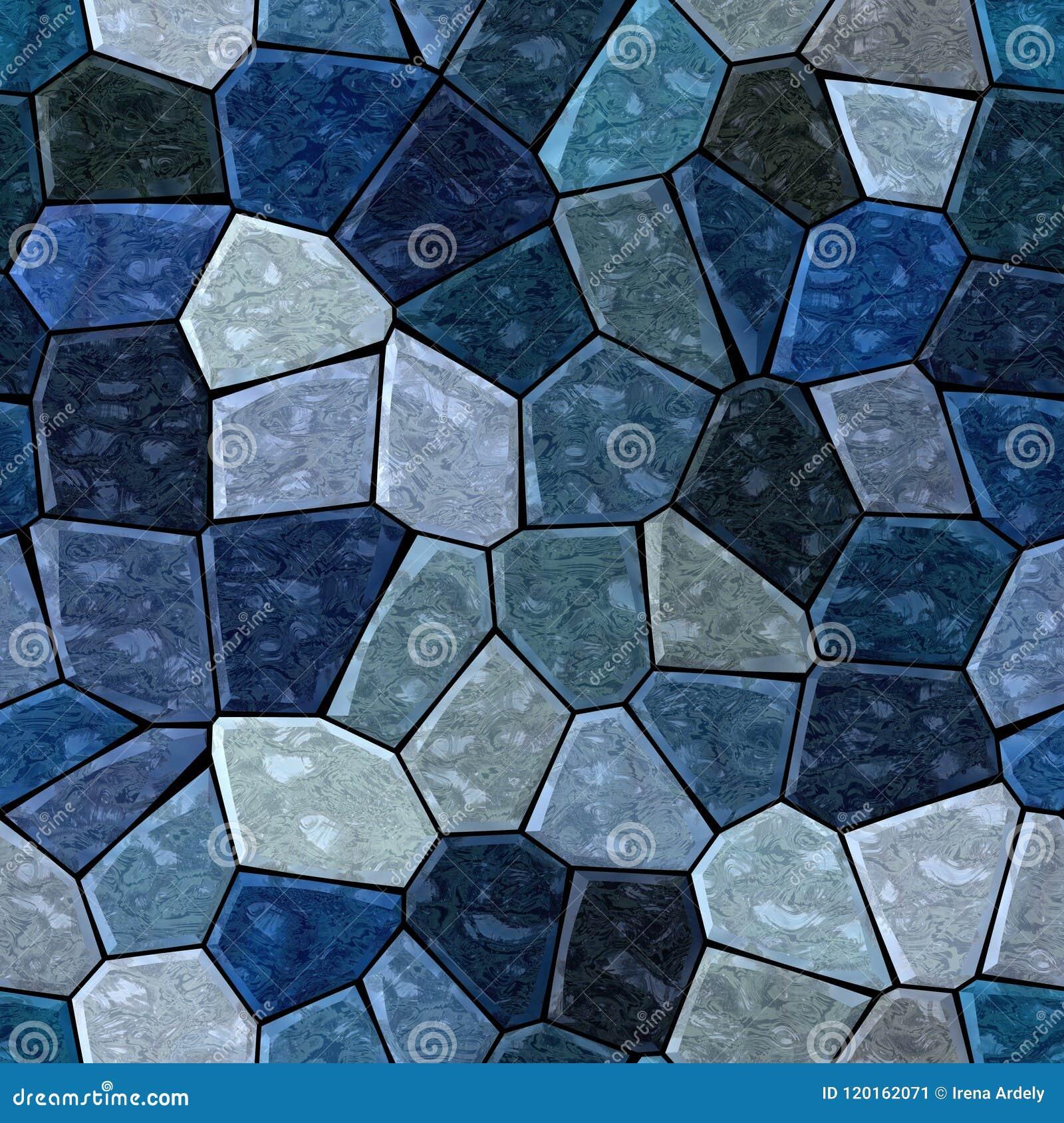 Couleur Gris Bleu Foncé fond sans couture de marbre extérieur de modèle de mosaïque