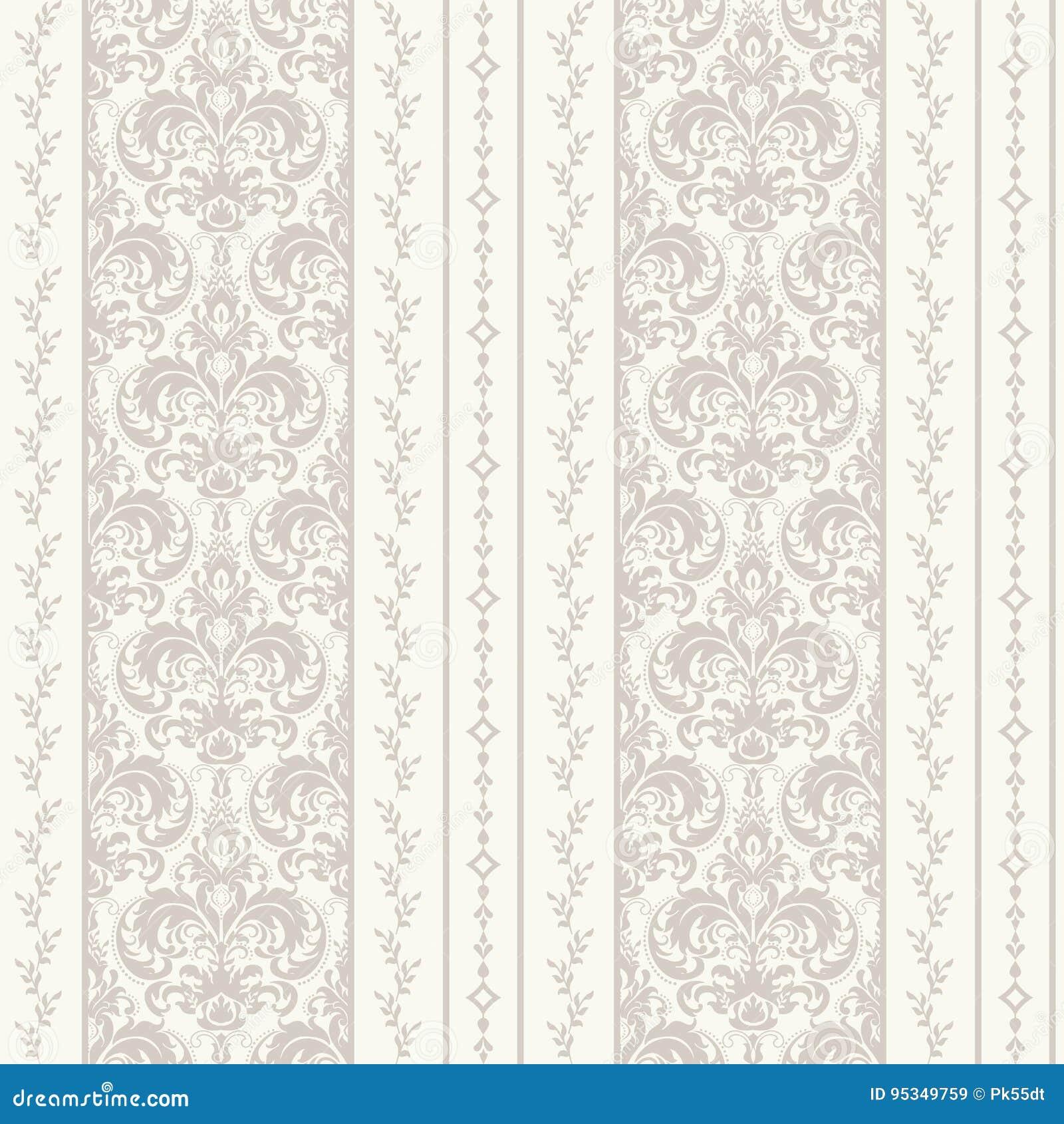 Fond sans couture de modèle de damassé Ornement démodé de luxe classique de damassé, texture sans couture de victorian royal