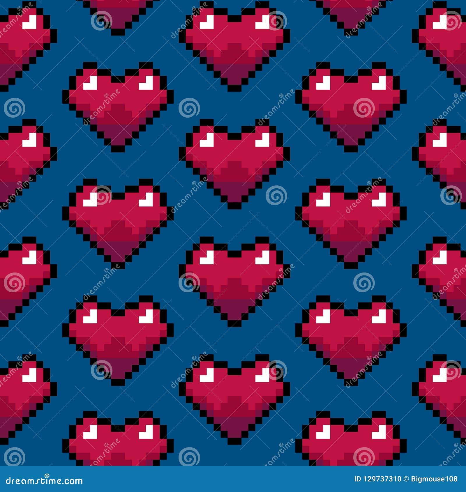 Modele Coeur Pixel Art