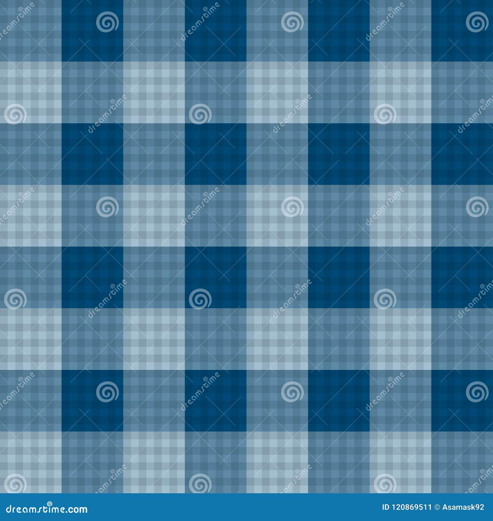 Fond sans couture de tartan de bleu d indigo Illustration de vecteur