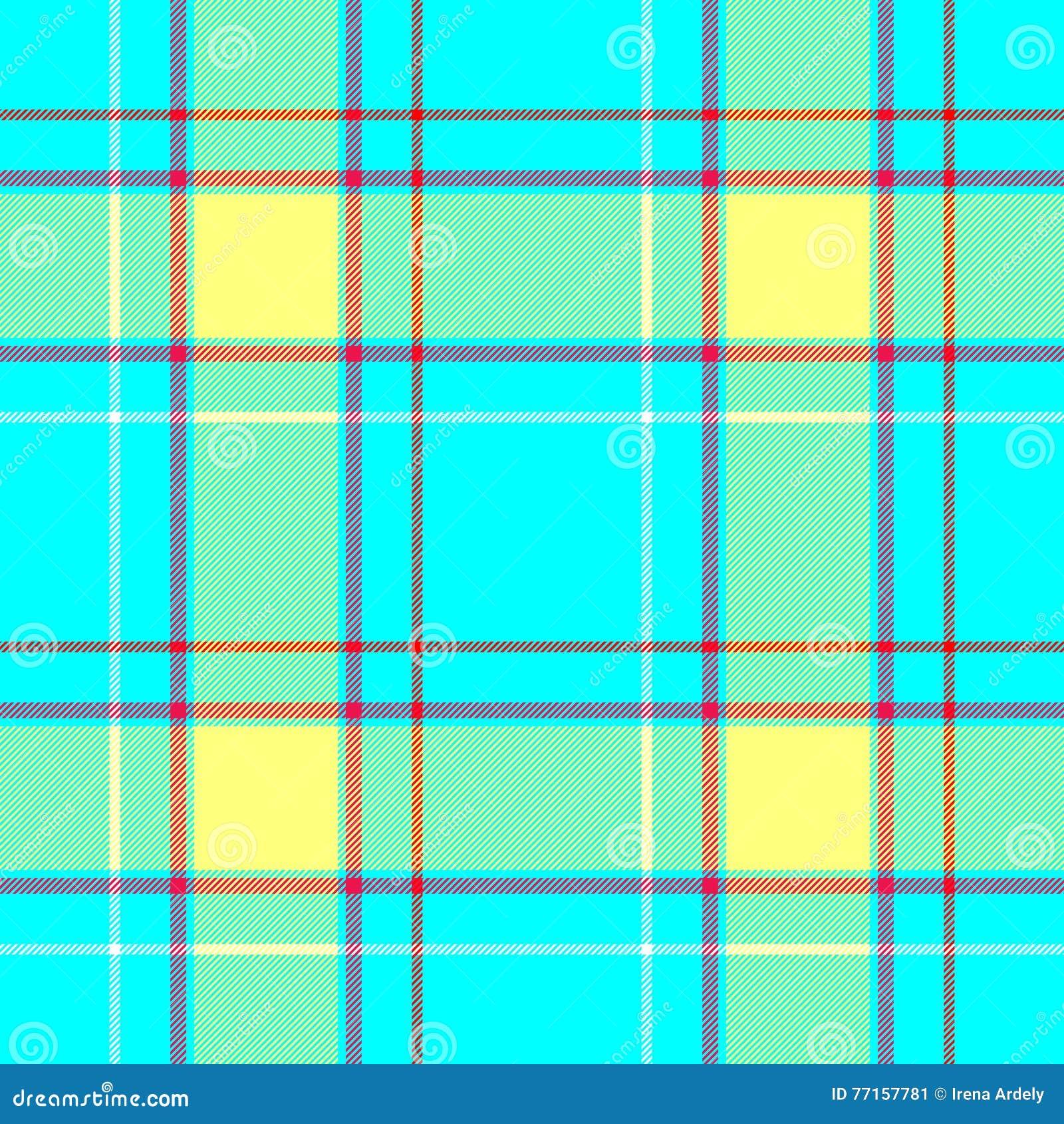 Fond sans couture de texture de modèle de contrôle de diamant de tartan de tissu bleu vibrant de plaid