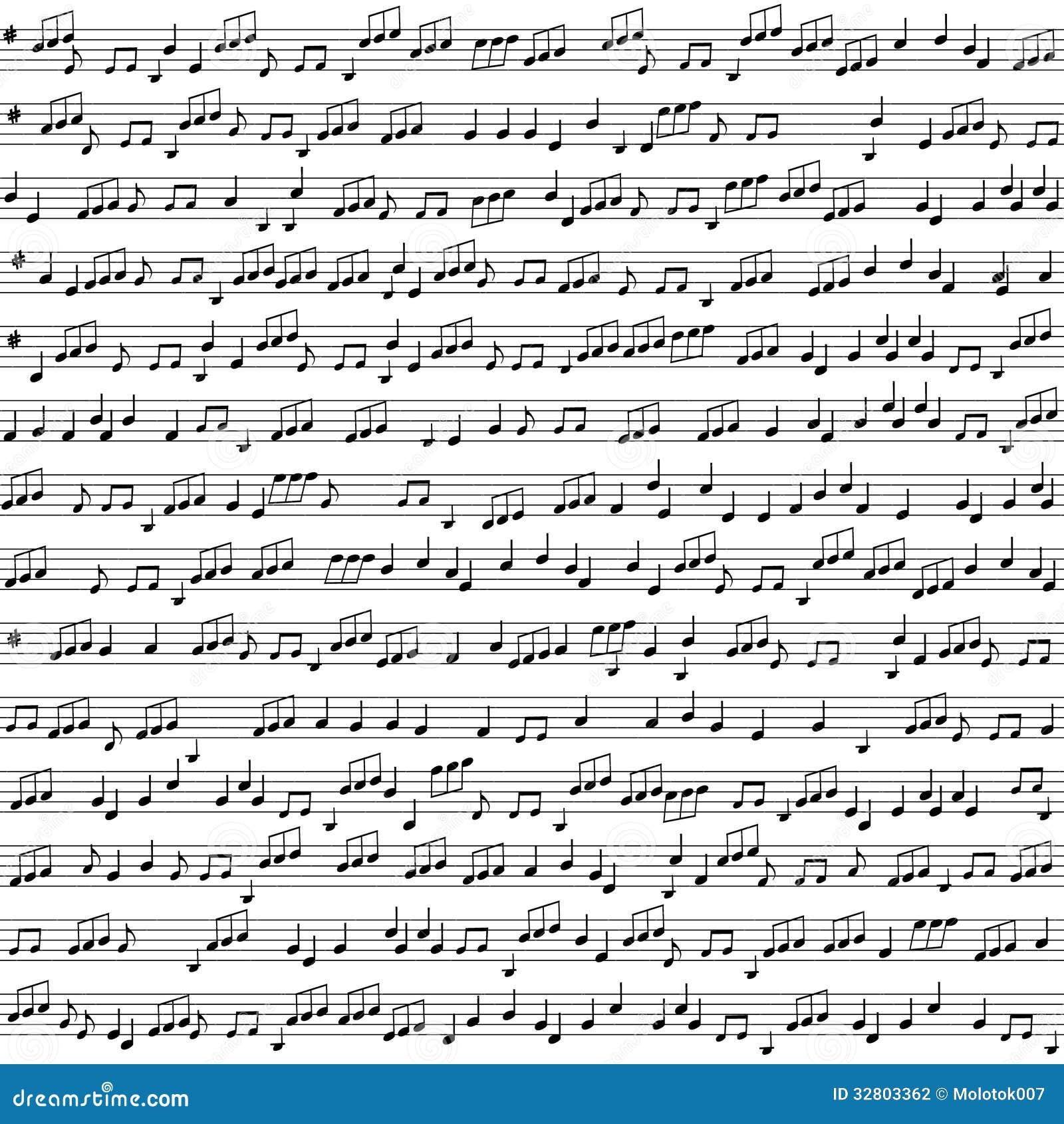 Fond sans couture de vecteur avec des notes de musique