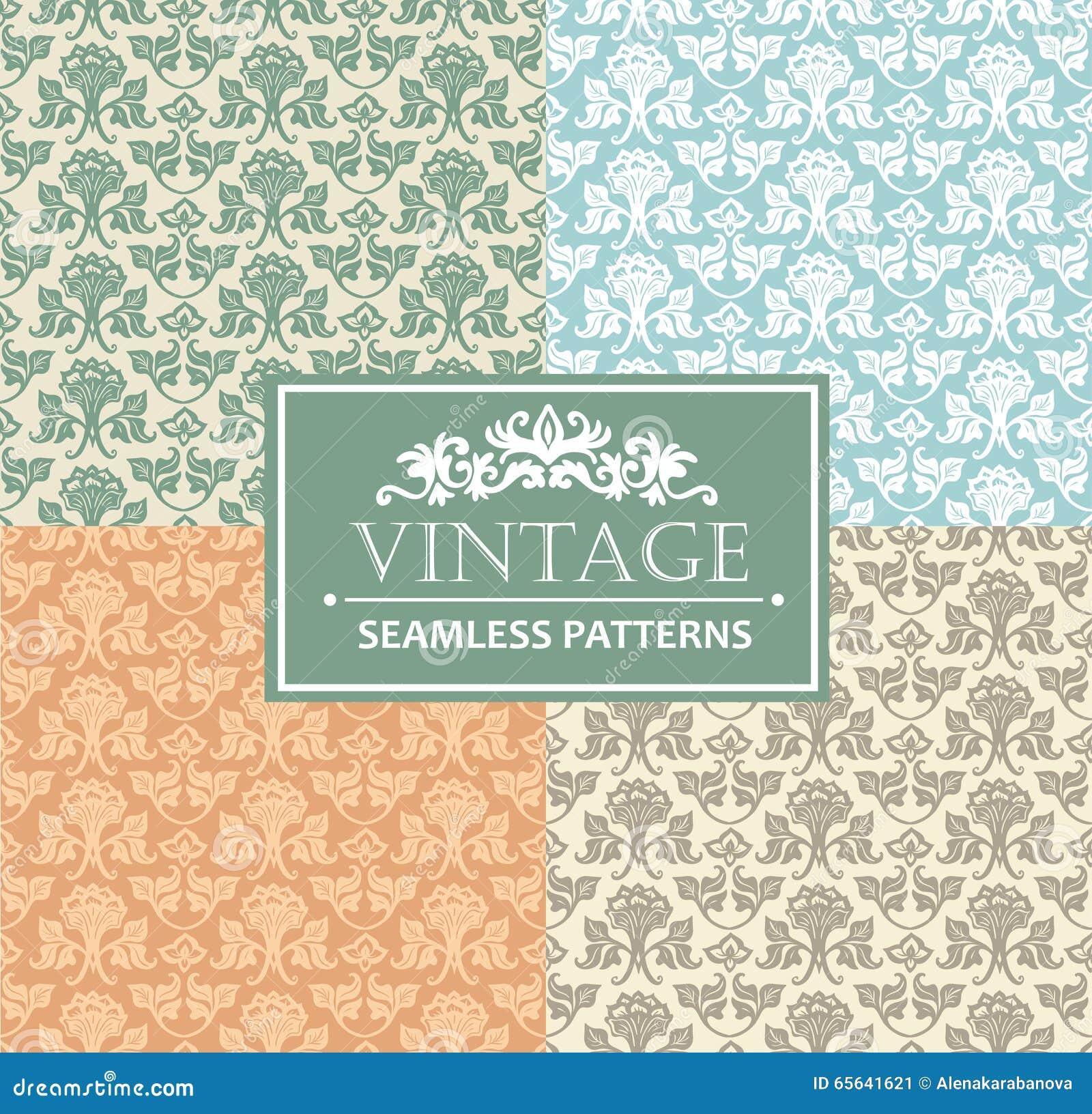 Fond sans couture de vintage, antiquité, ornement argenté de victorian, modèles ornementaux de luxe floraux