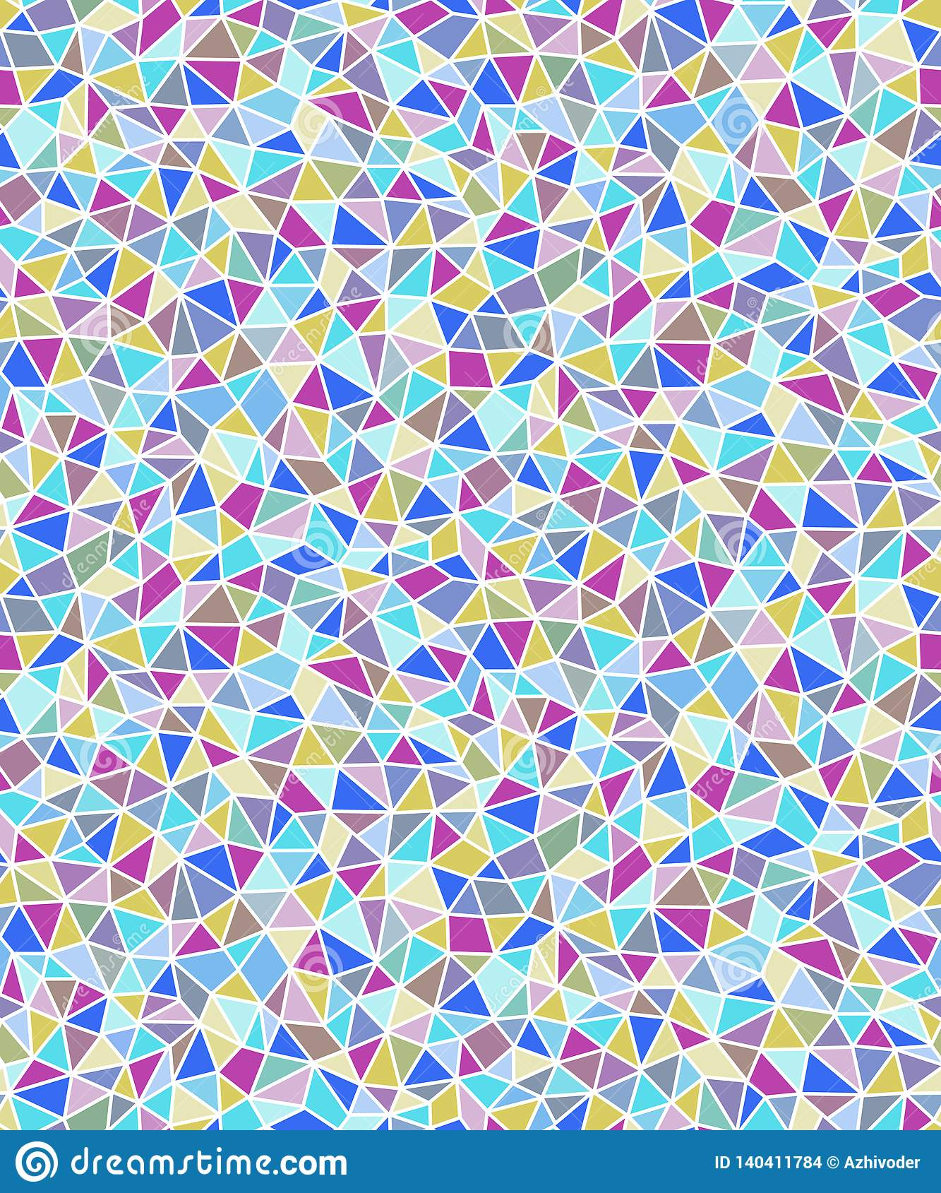 Fond sans couture géométrique de formes triangulaires simples