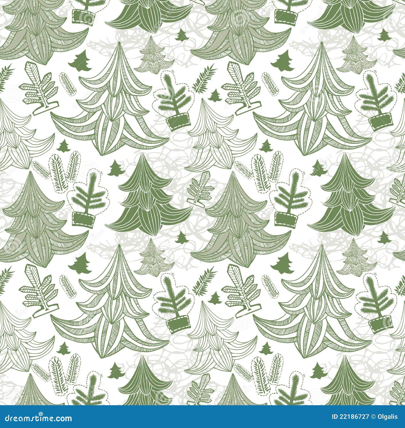 Fond sans joint avec des arbres de Noël