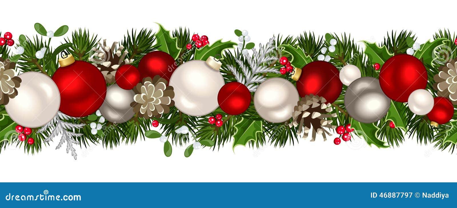 Fond sans joint horizontal de Noël Illustration de vecteur