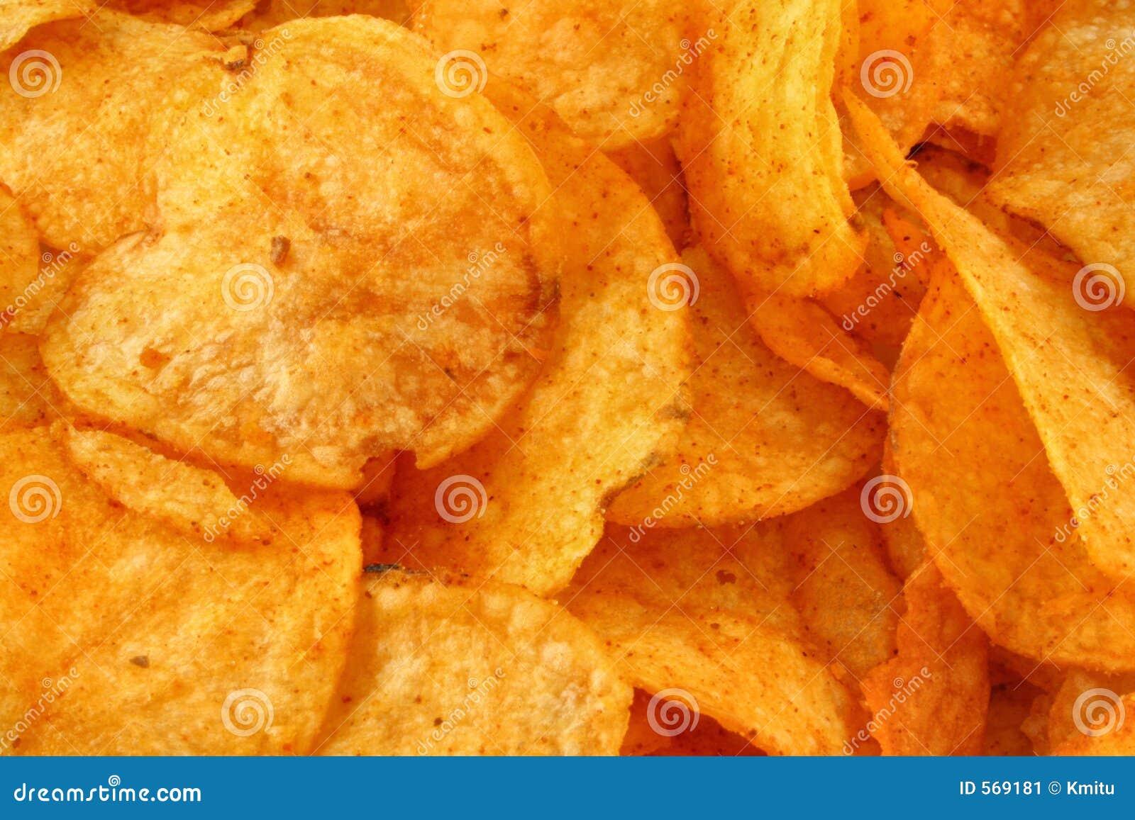 Fond savoureux de pommes chips