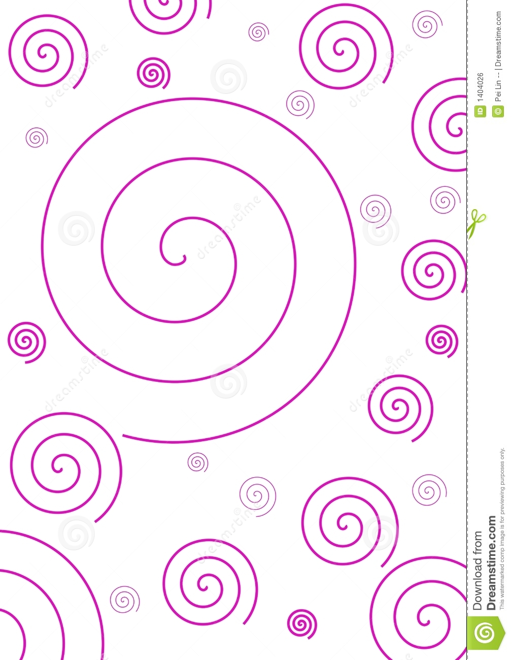 Fond spiralé rose simple