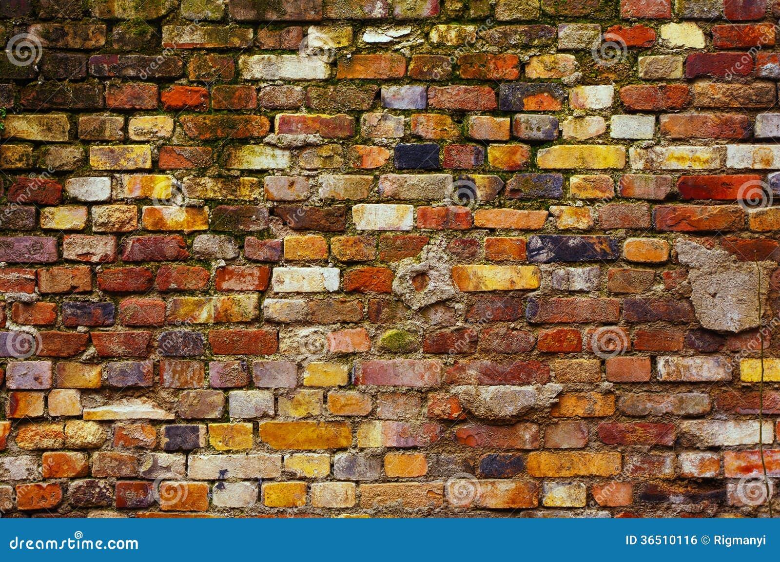 Fond superficiel par les agents de mur de briques