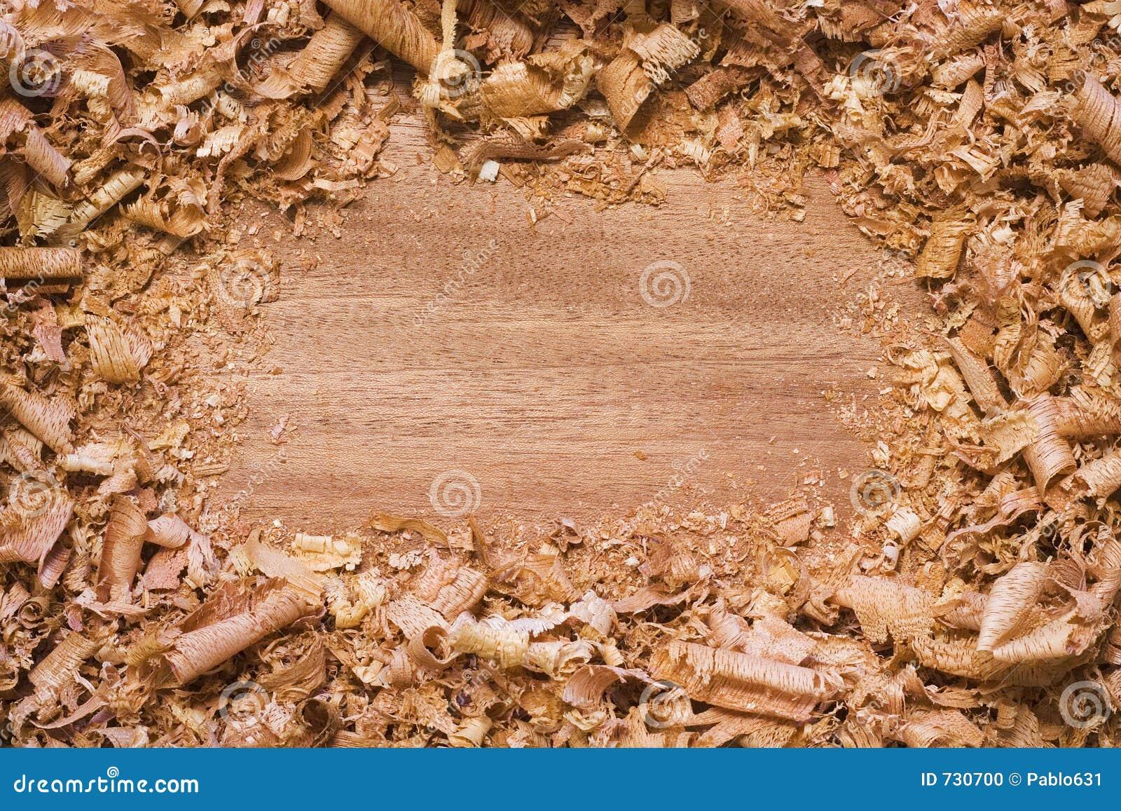 Fond texturisé en bois avec des copeaux