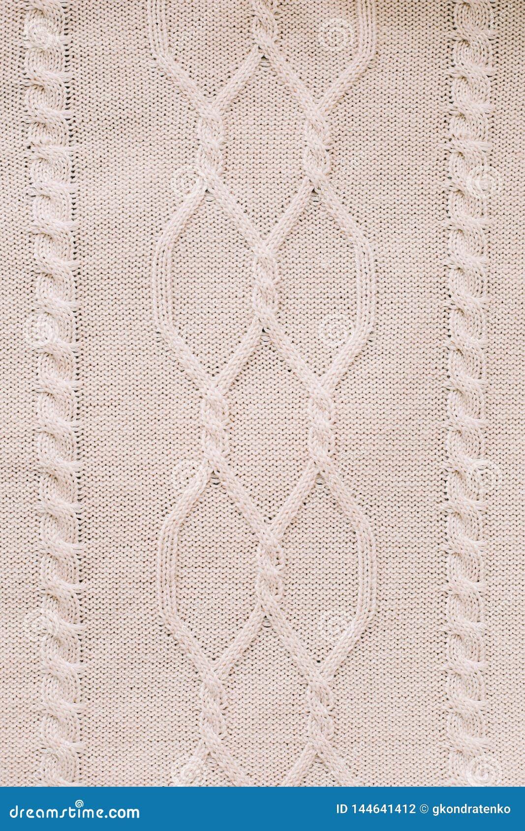 Fond tricoté modèle de tricotage de laine tricotage Texture de tissu de laine tricoté pour le papier peint et un fond abstrait