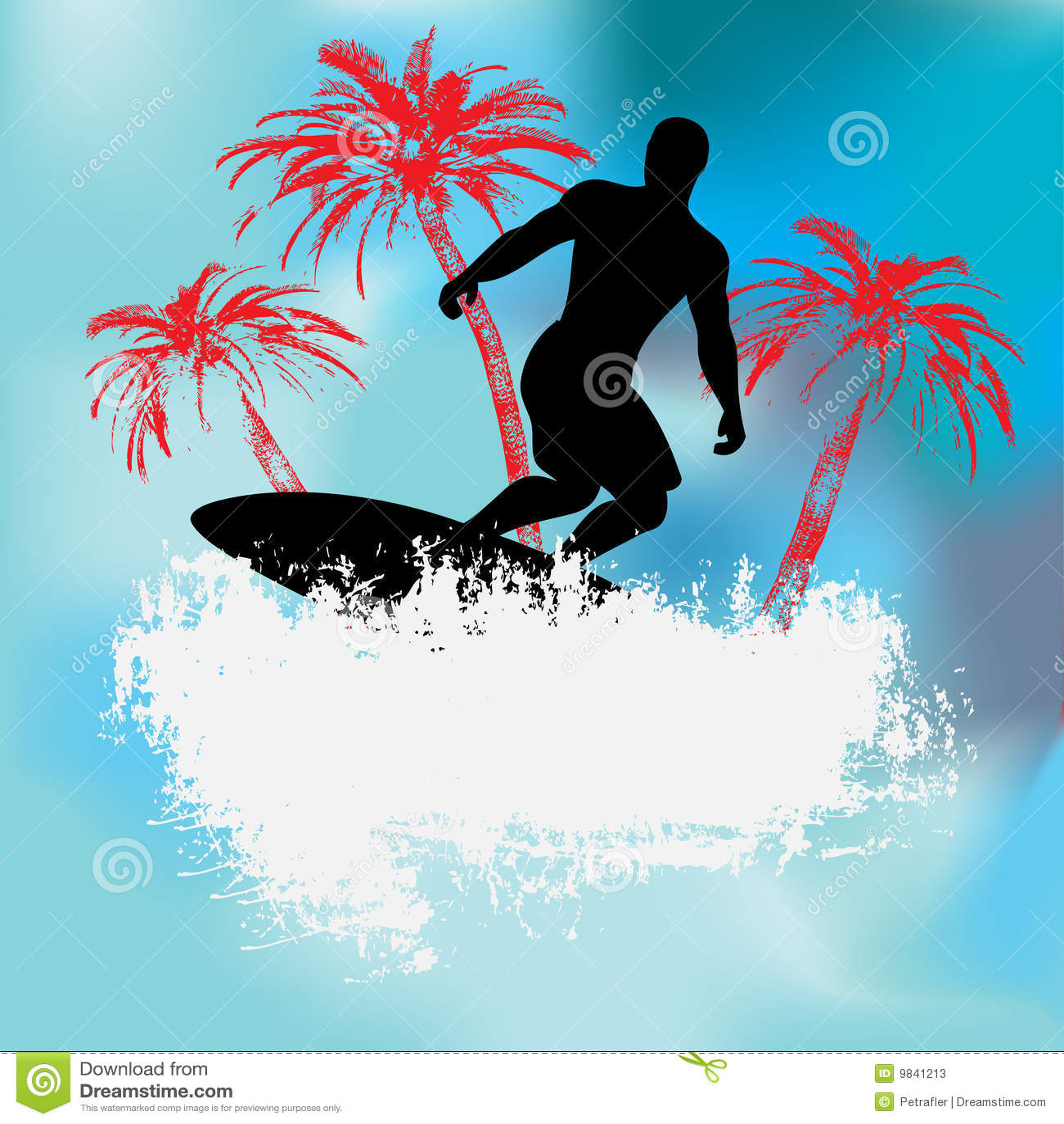 Fond tropical de surfer