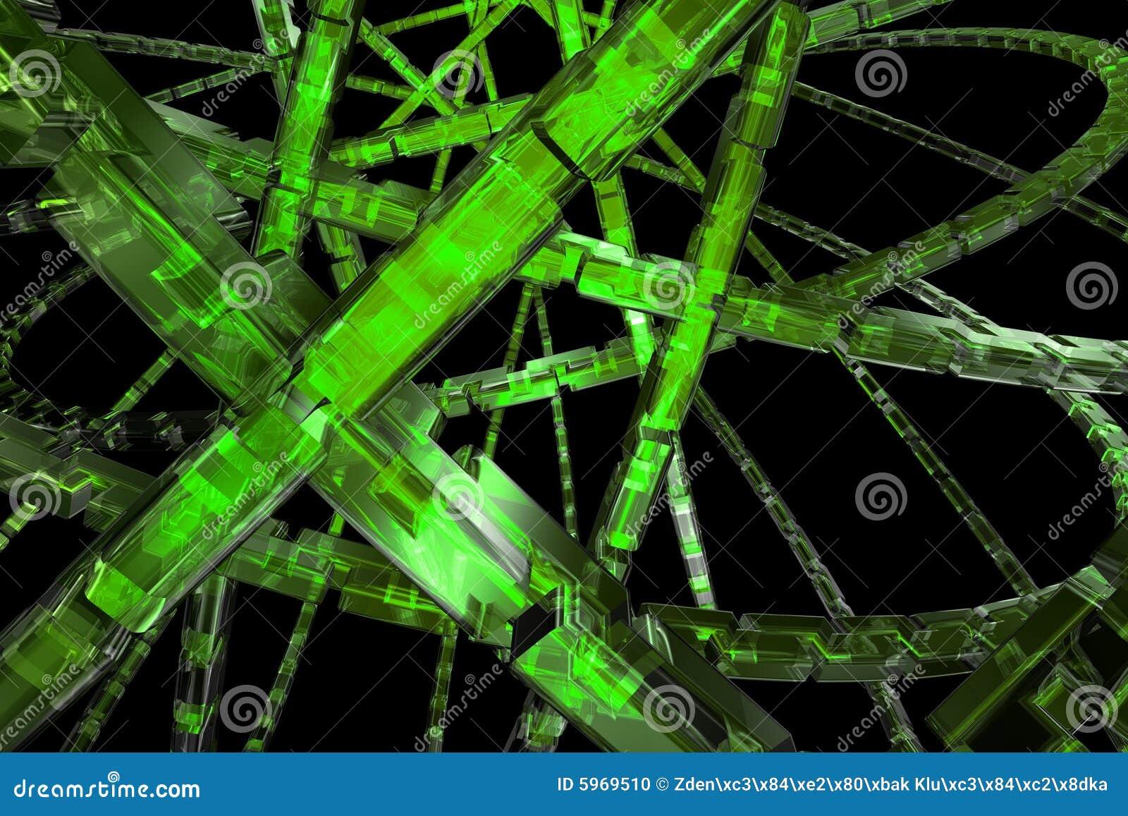 Fond vert abstrait