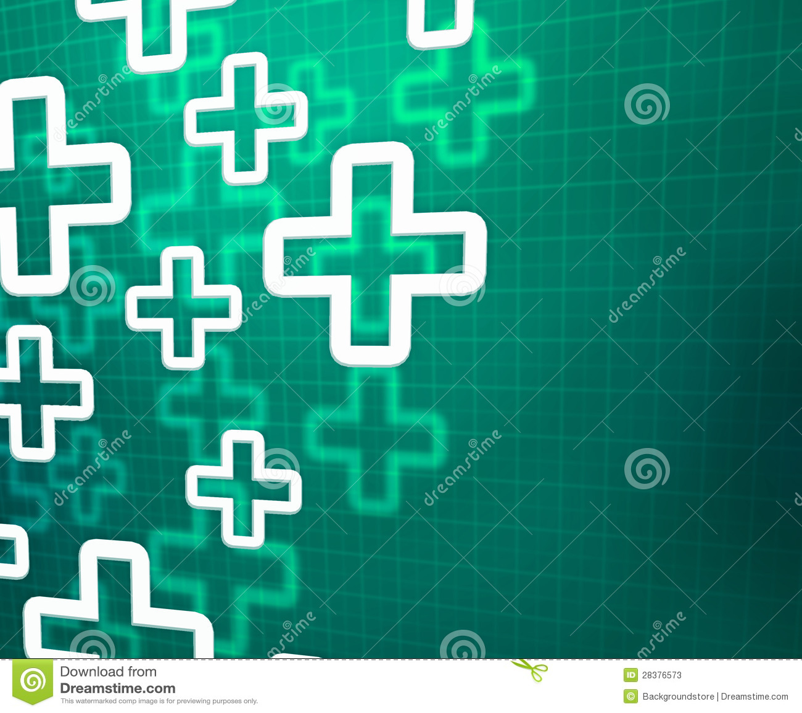 Fond vert croisé médical
