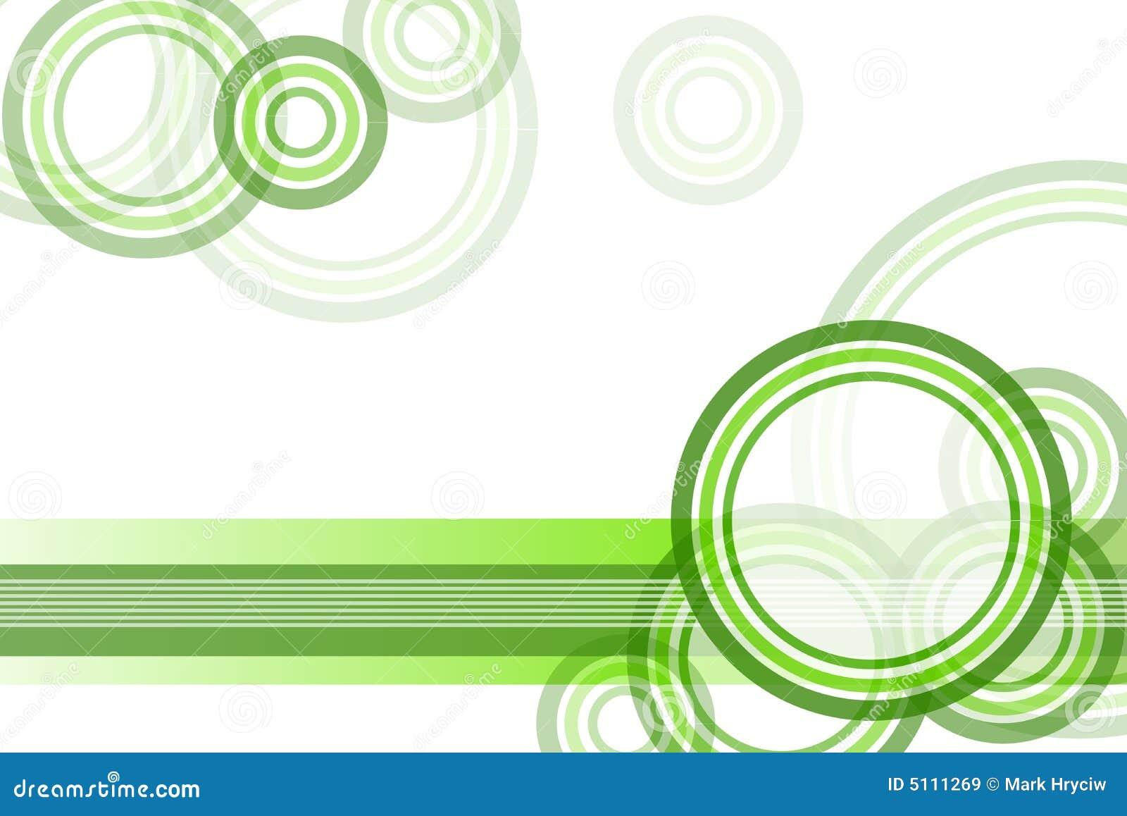 Fond vert de cadre de cercle