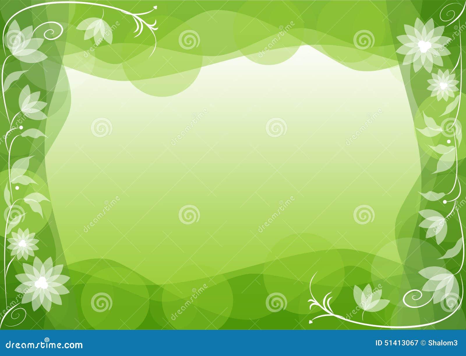 fond vert de ressort avec le motif floral de miroir fin illustration de vecteur image 51413067. Black Bedroom Furniture Sets. Home Design Ideas