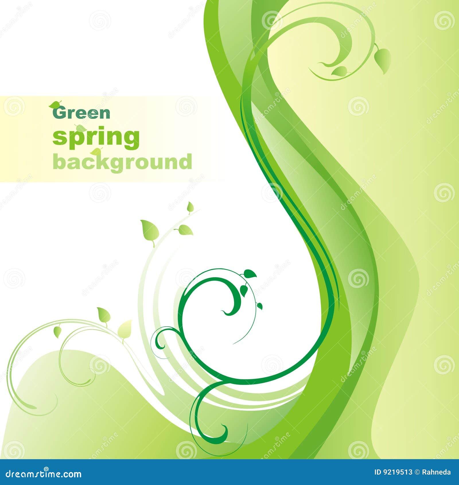 Fond vert de source.