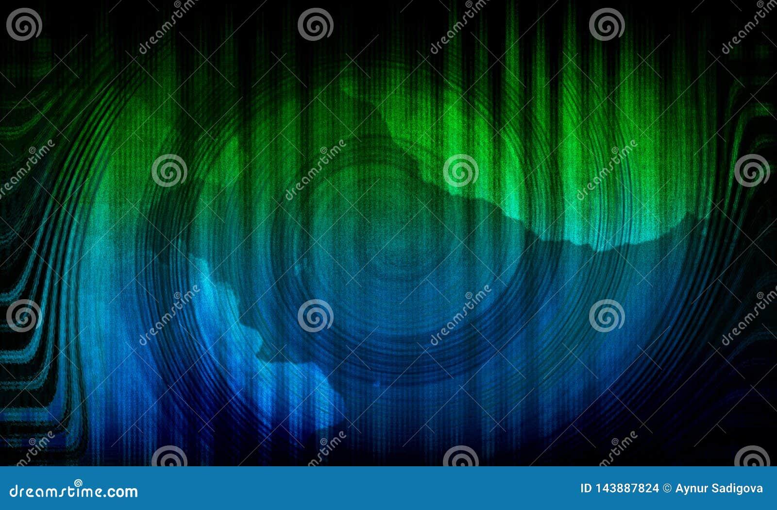 Fond vert dynamique abstrait Remous vert Vague de cercle
