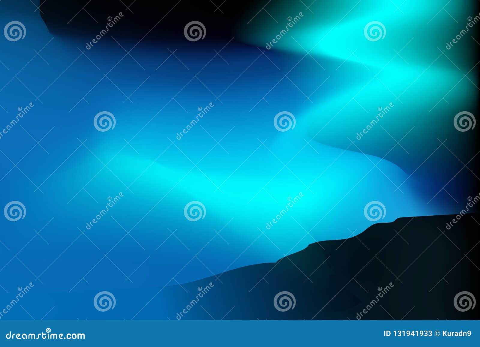 Fond vibrant frais - lumière du nord magique de colline - vecteur d outils de maille