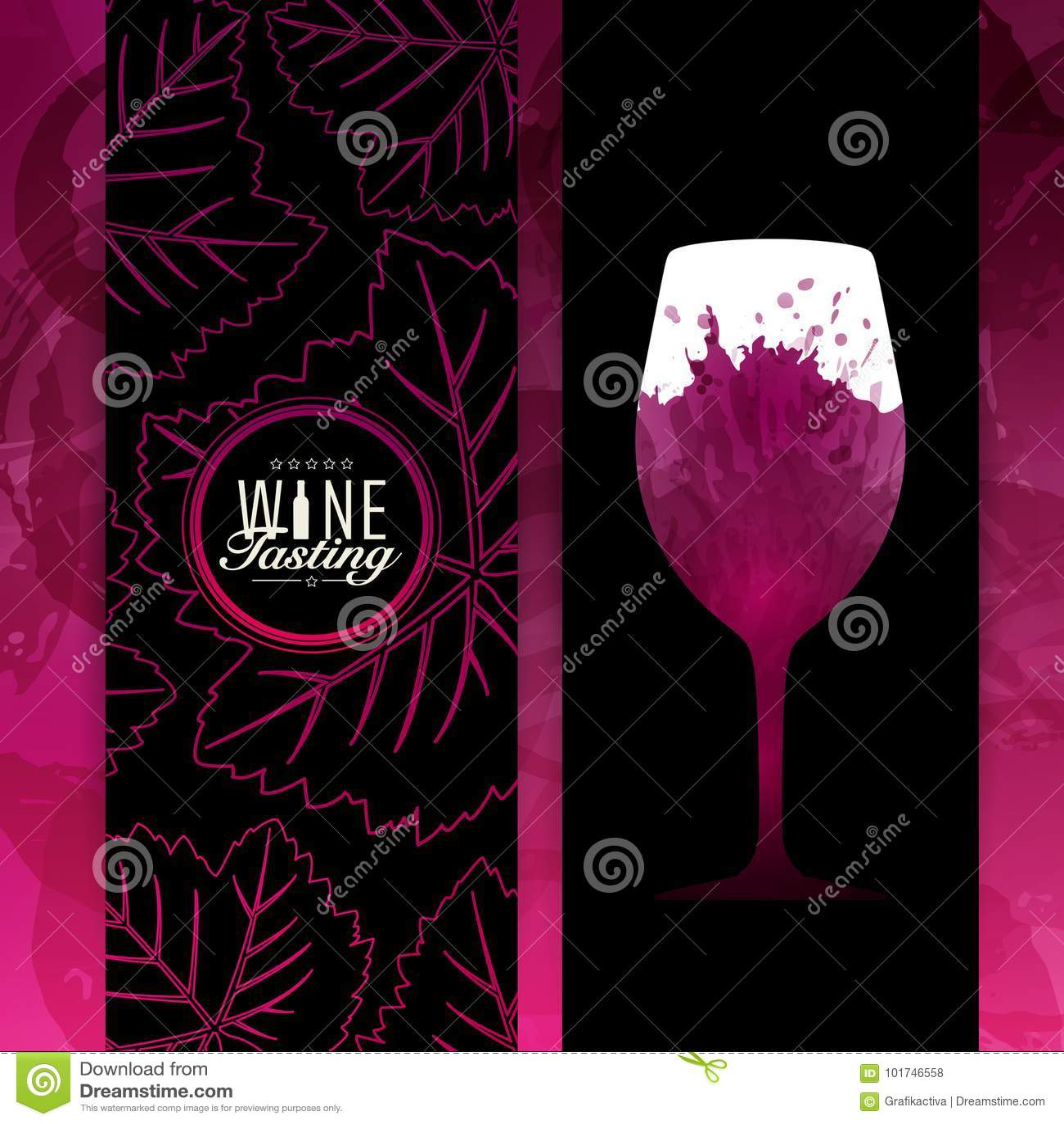 Fond vin rouge tache échantillon verre Illustration de