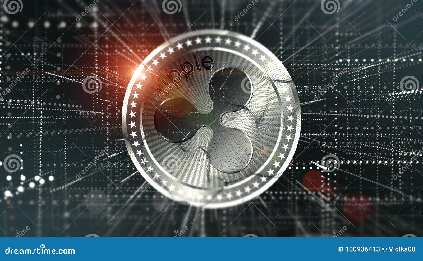 Fond virtuel de crypto-devise d ondulation