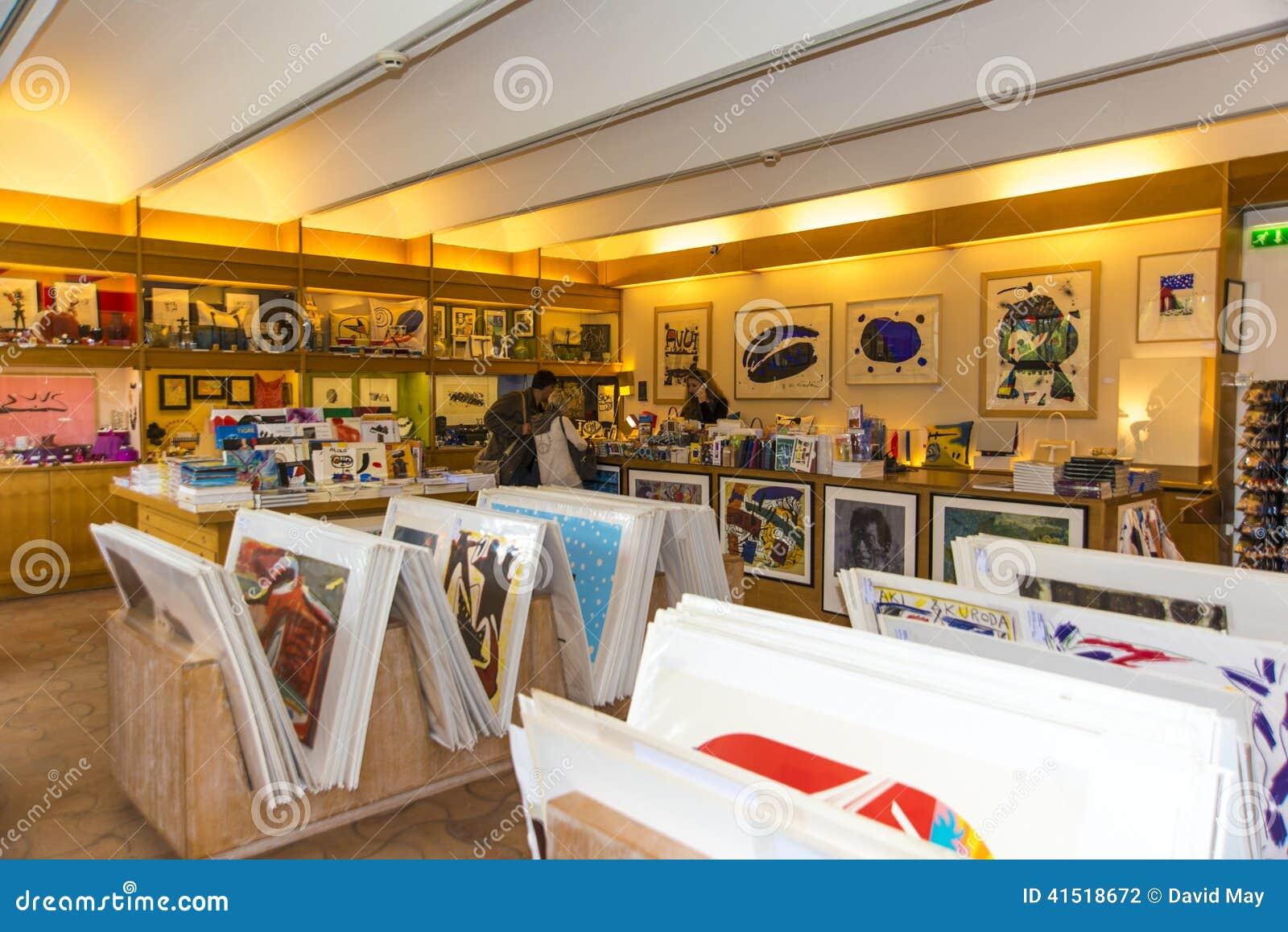 fondation maeght souvenir shop editorial photography. Black Bedroom Furniture Sets. Home Design Ideas