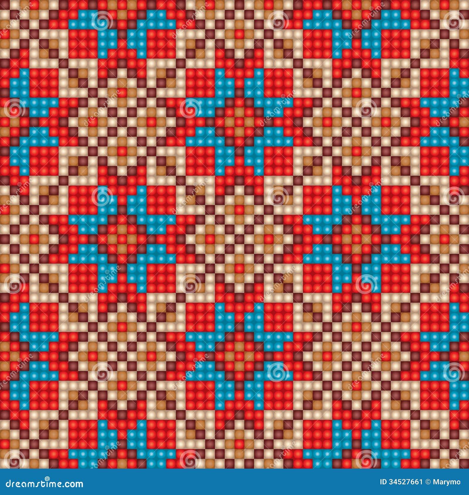 Fondo tnico incons til del modelo del mosaico imagen de archivo imagen 34527661 - Mosaico de colores ...