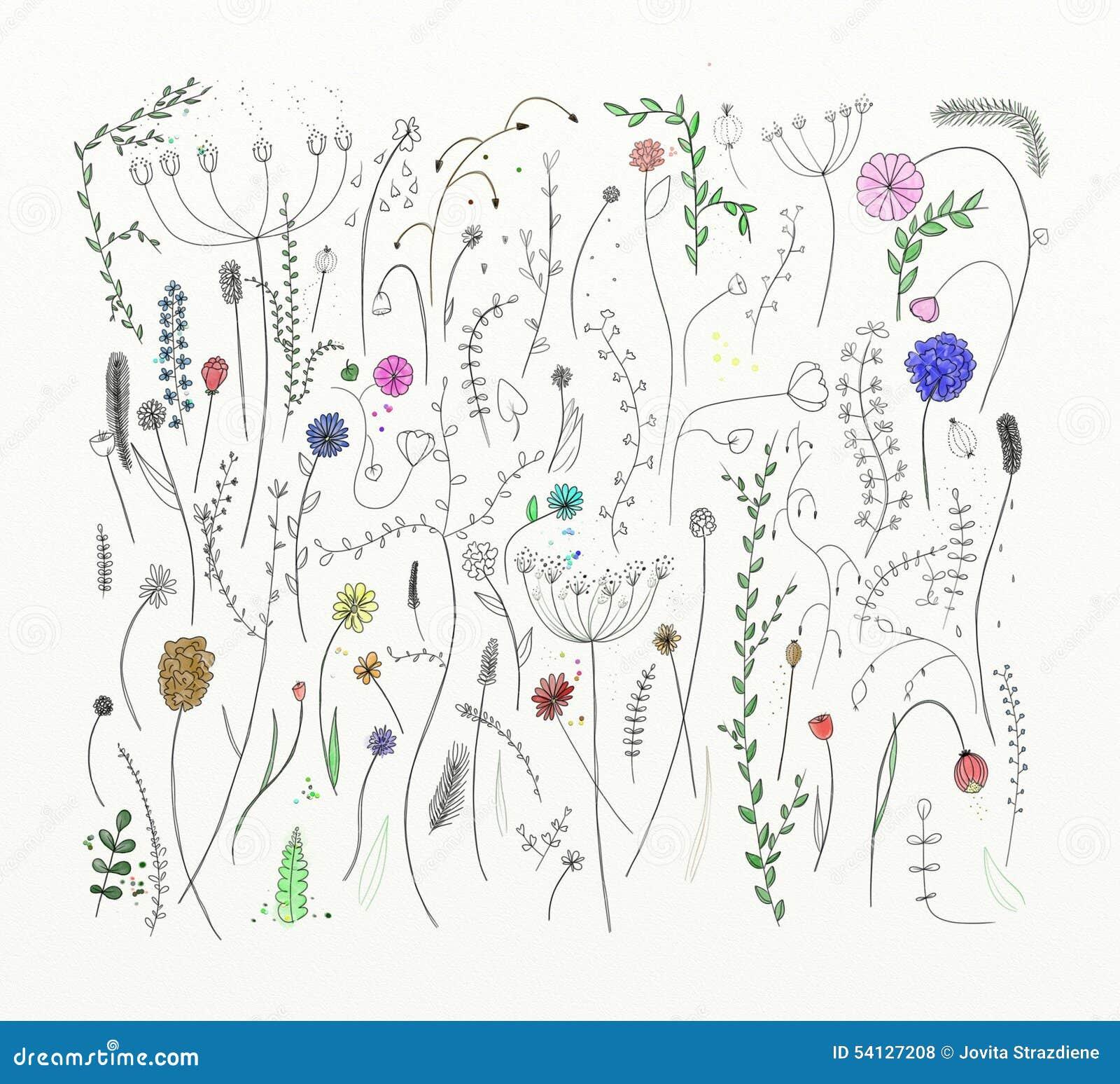 Fondo único De Muchas Flores Stock De Ilustración Ilustración De