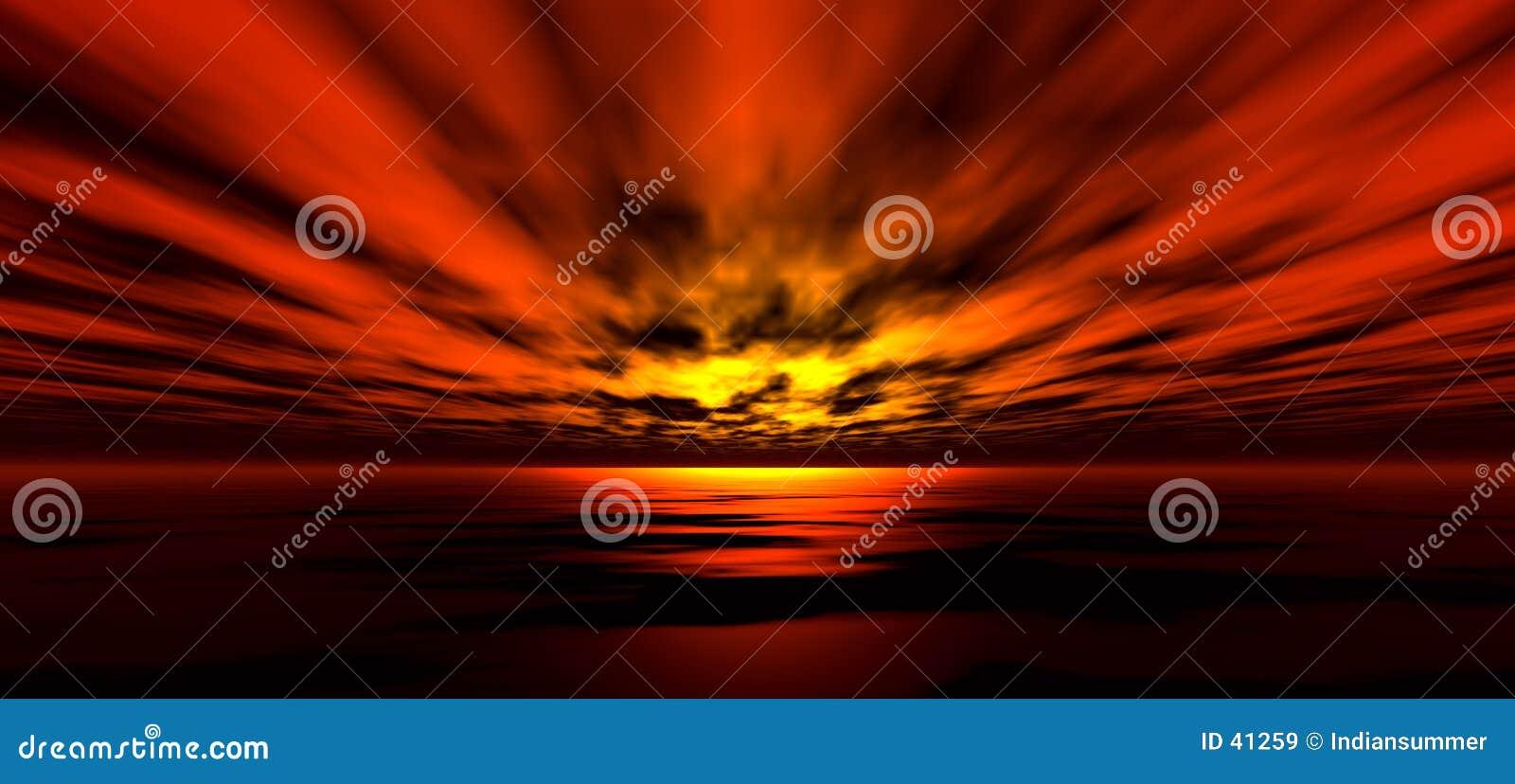 Download Fondo 5 De La Puesta Del Sol Stock de ilustración - Ilustración de océano, nubes: 41259
